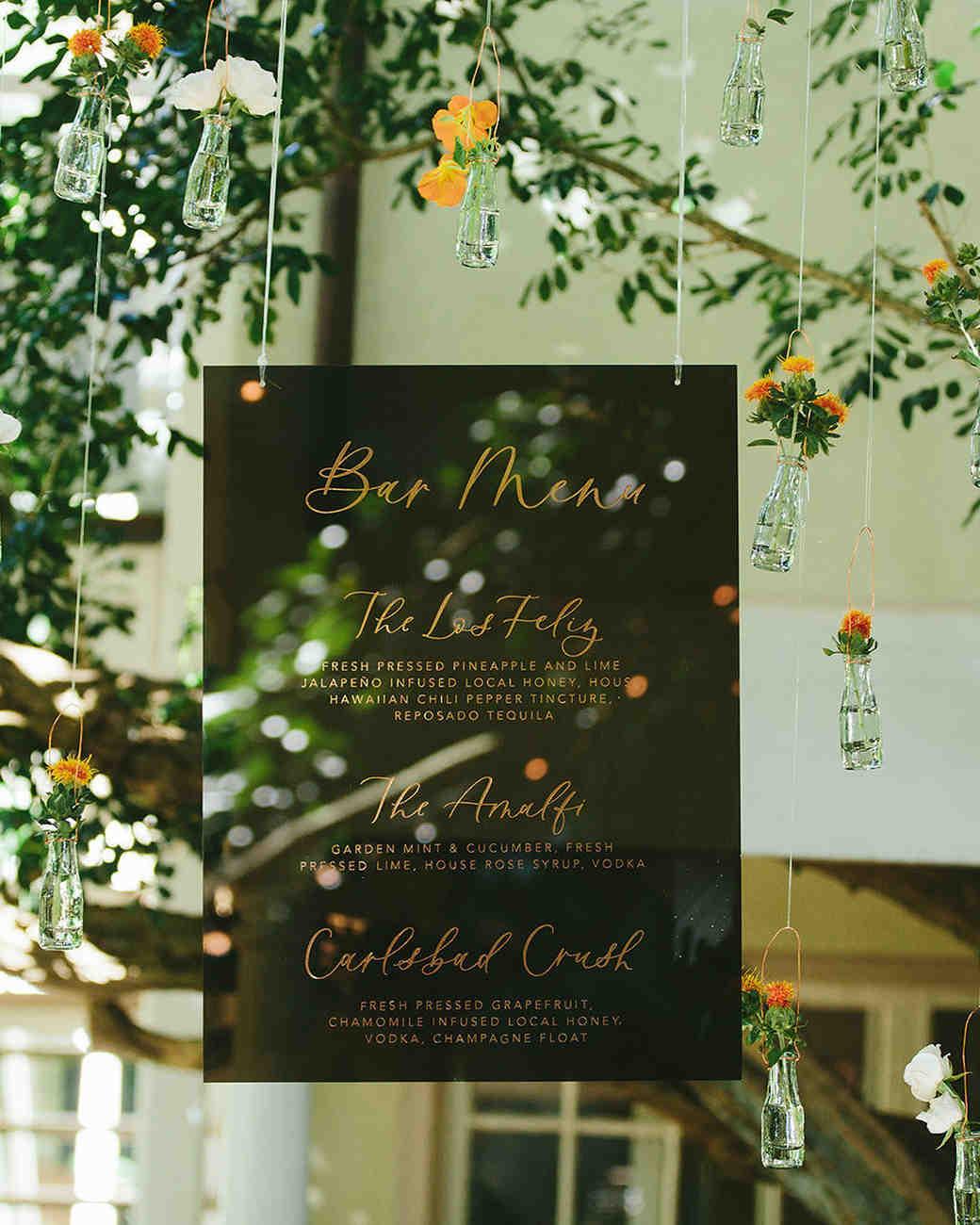 sarah daniel wedding hanging bar sign