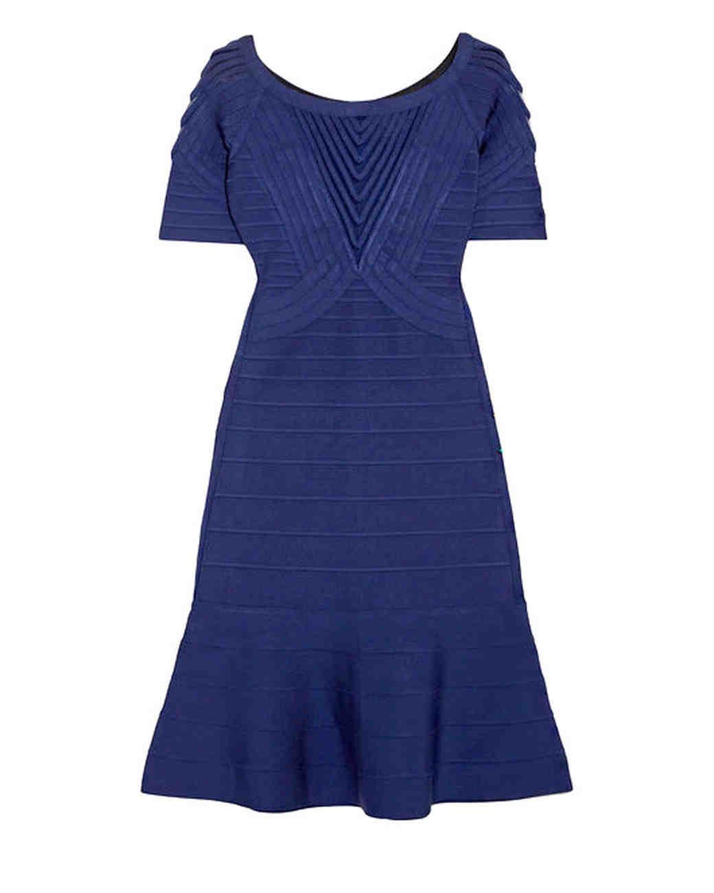 Herve Leger Tulle-Paneled Mini Dress