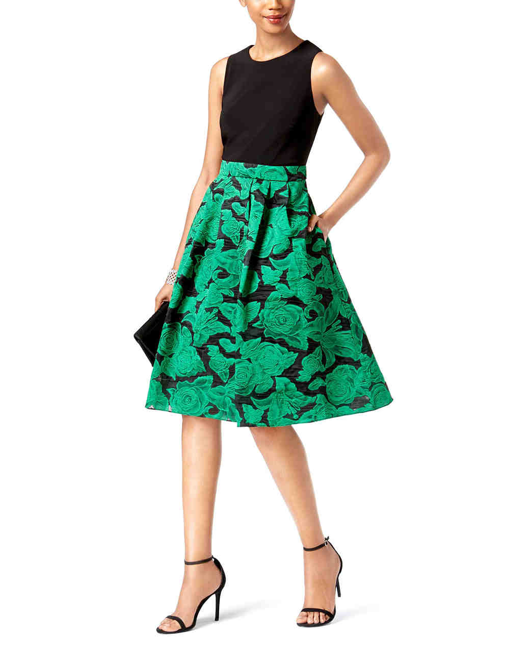 SL Fashions Floral Fit & Flare Dress