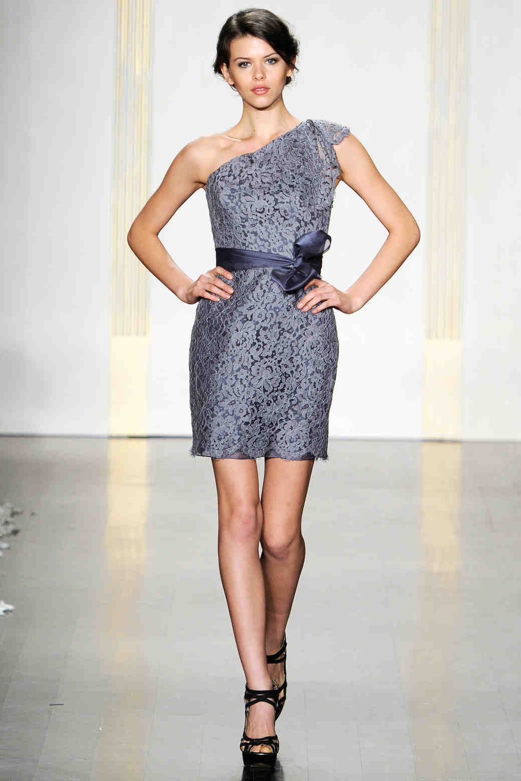 Noir by lazaro fall 2012 collection martha stewart weddings gray one shoulder bridesmaid dress ombrellifo Gallery