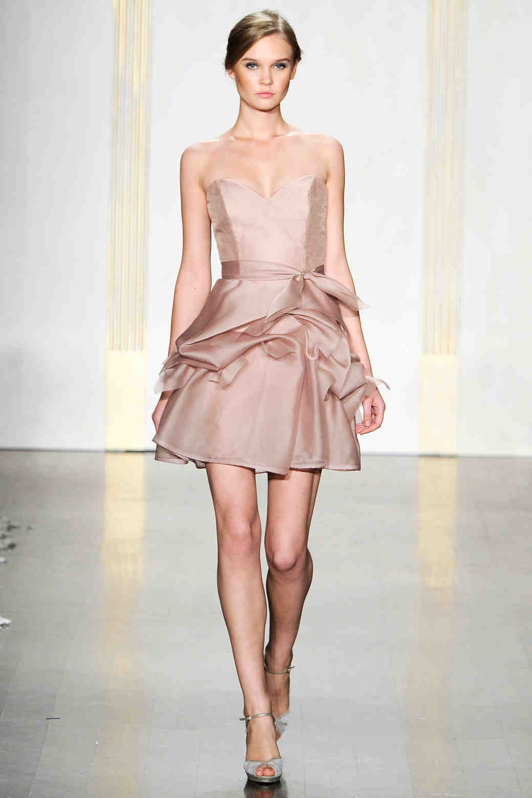 Noir by lazaro fall 2012 collection martha stewart weddings short taupe bridesmaid dress ombrellifo Image collections