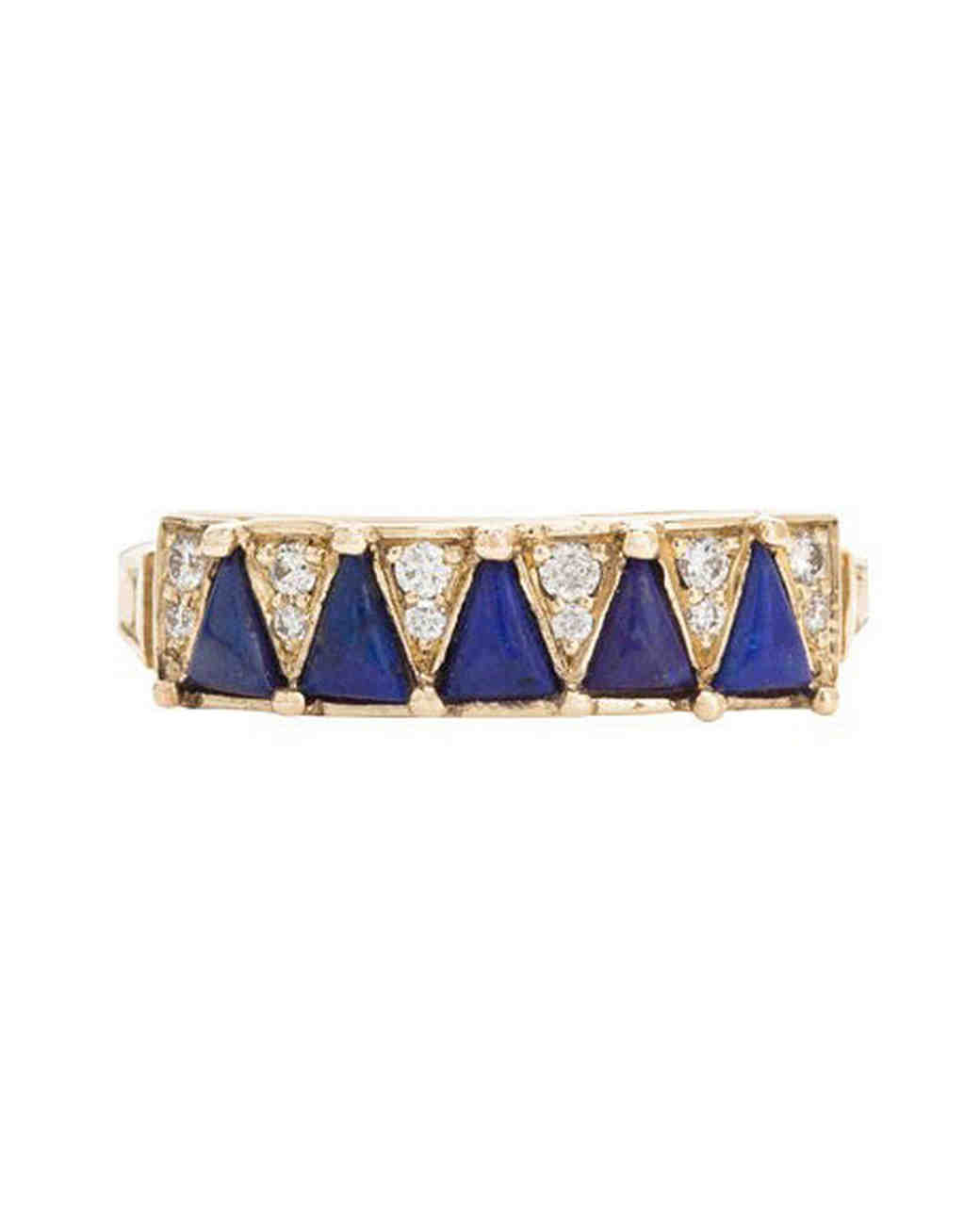 blue and gold ring
