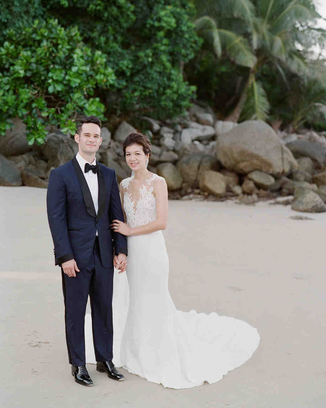 stacy brad wedding thailand couple on the beach