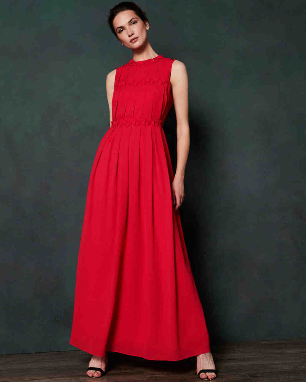 ted baker saffrom origami folded maxi dress