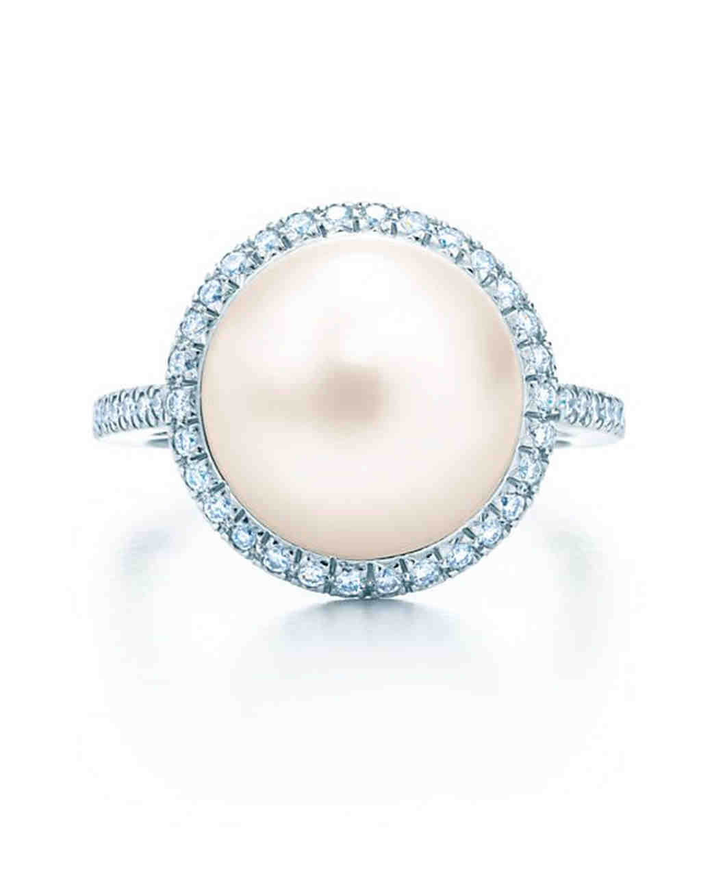 Tiffany & Co. Pearl Engagement Ring