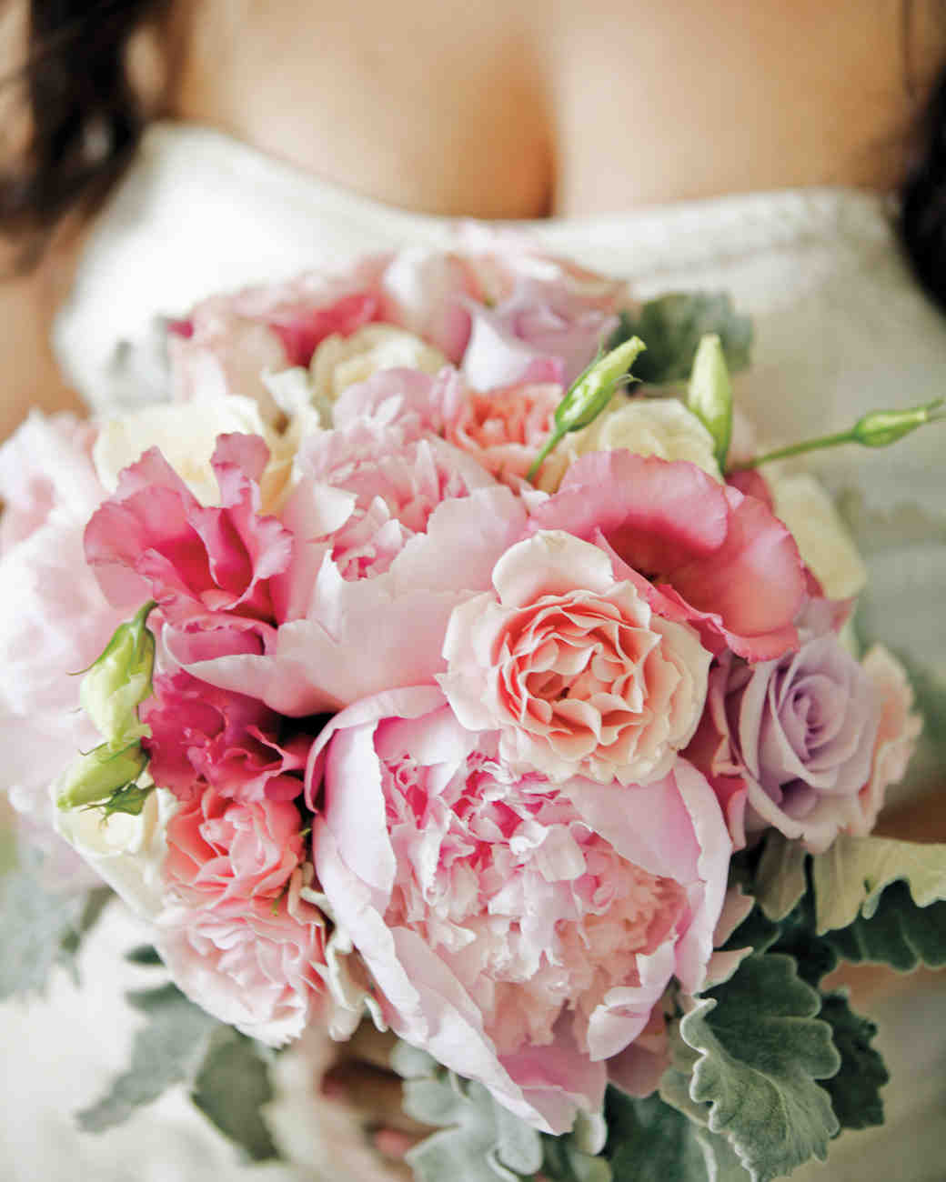 Full Pink Wedding Bouquet