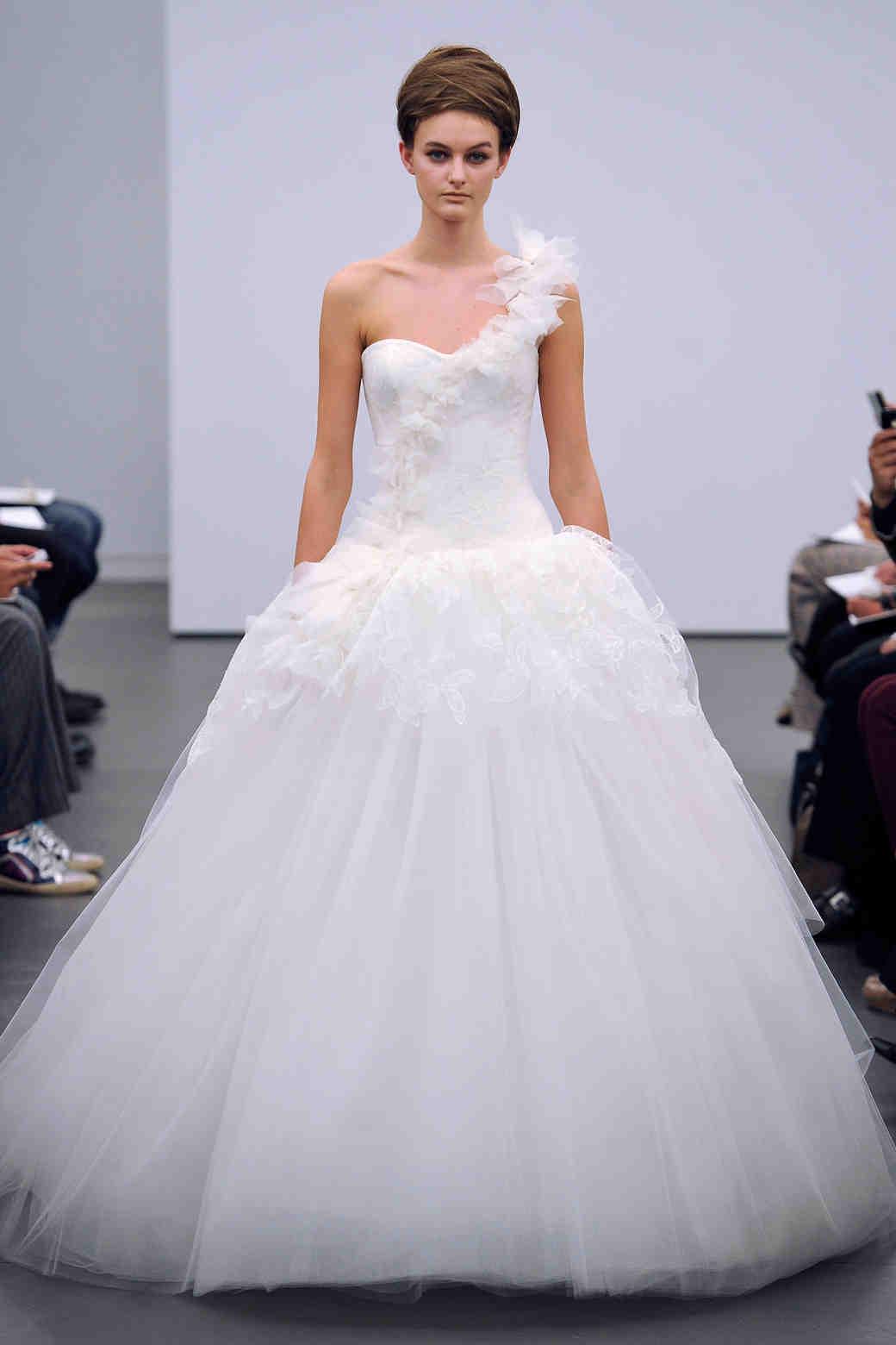 One-Shoulder Wedding Dresses, Fall 2013 | Martha Stewart Weddings
