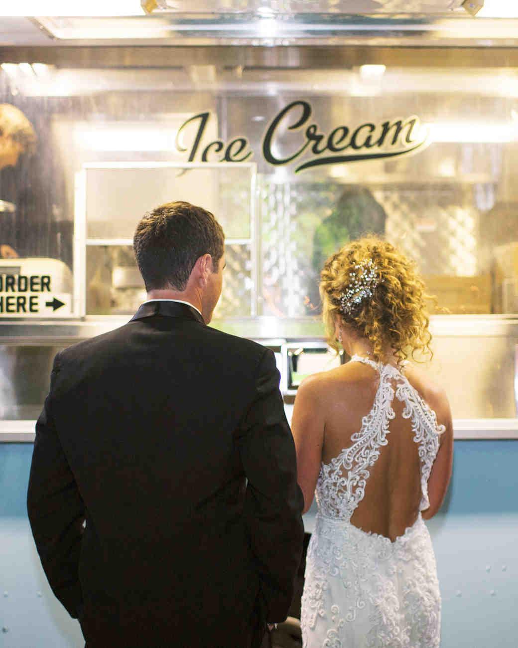 bride groom ice cream shop