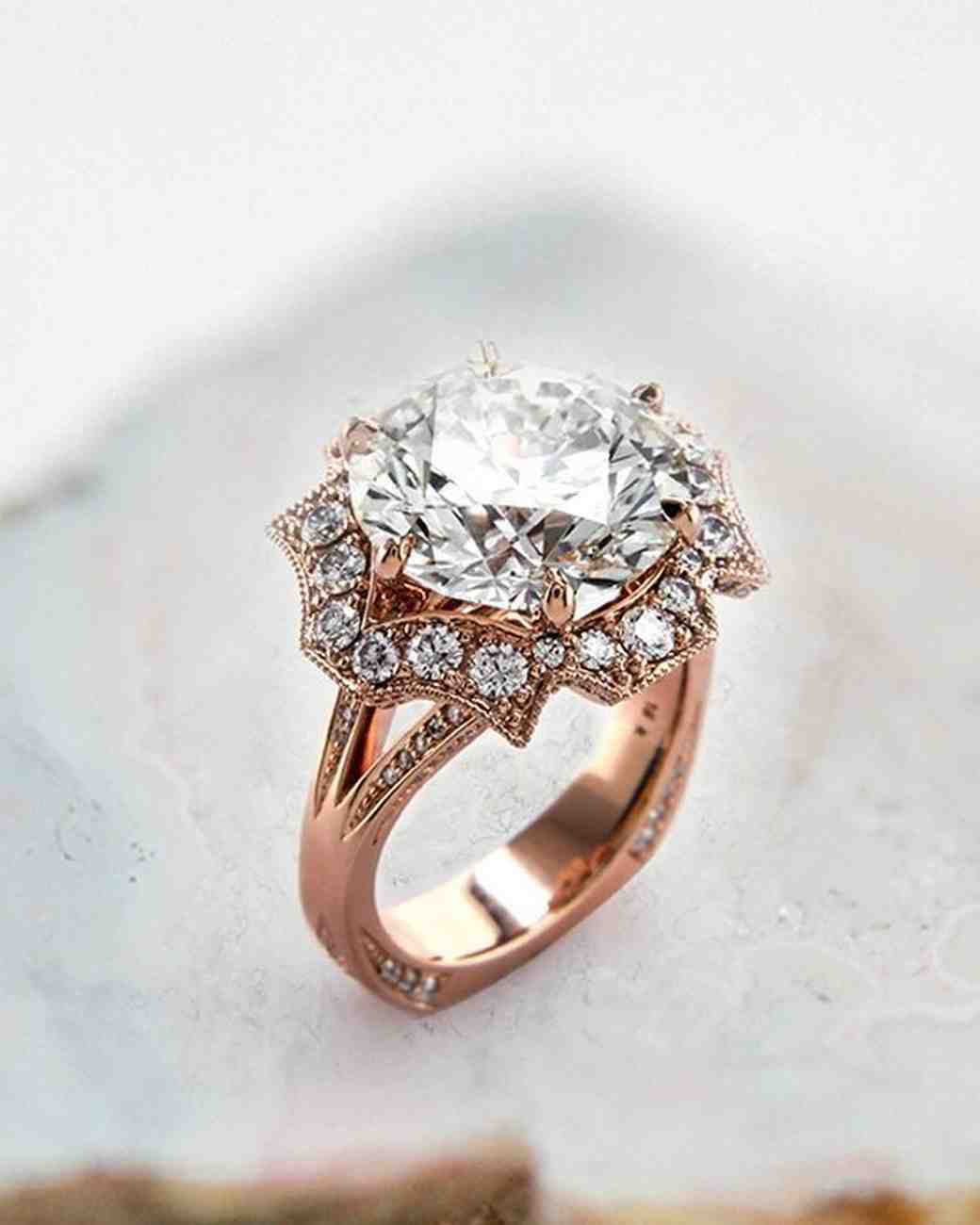 21 unique engagement rings you 39 ll love martha stewart weddings. Black Bedroom Furniture Sets. Home Design Ideas