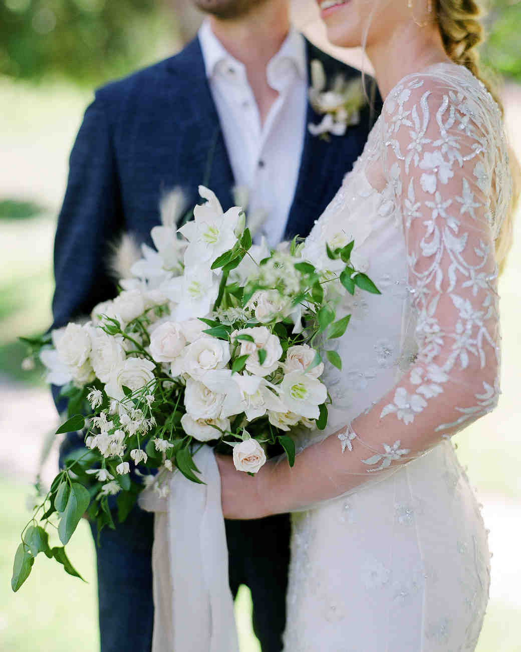 alex drew california wedding bouquet couple