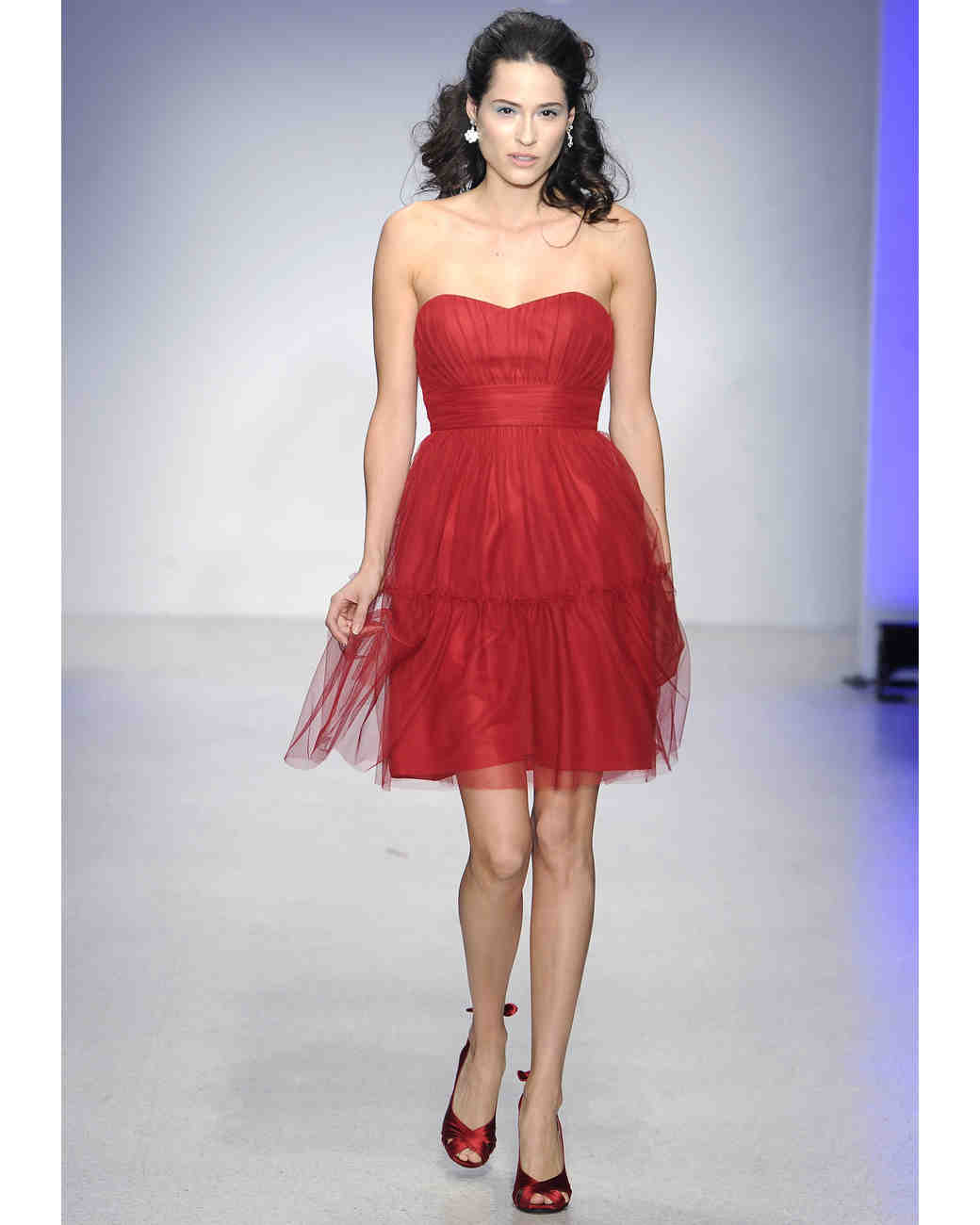 Alfred angelo fall 2013 bridesmaid collection martha stewart short red bridesmaid dress alfred angelo ombrellifo Images