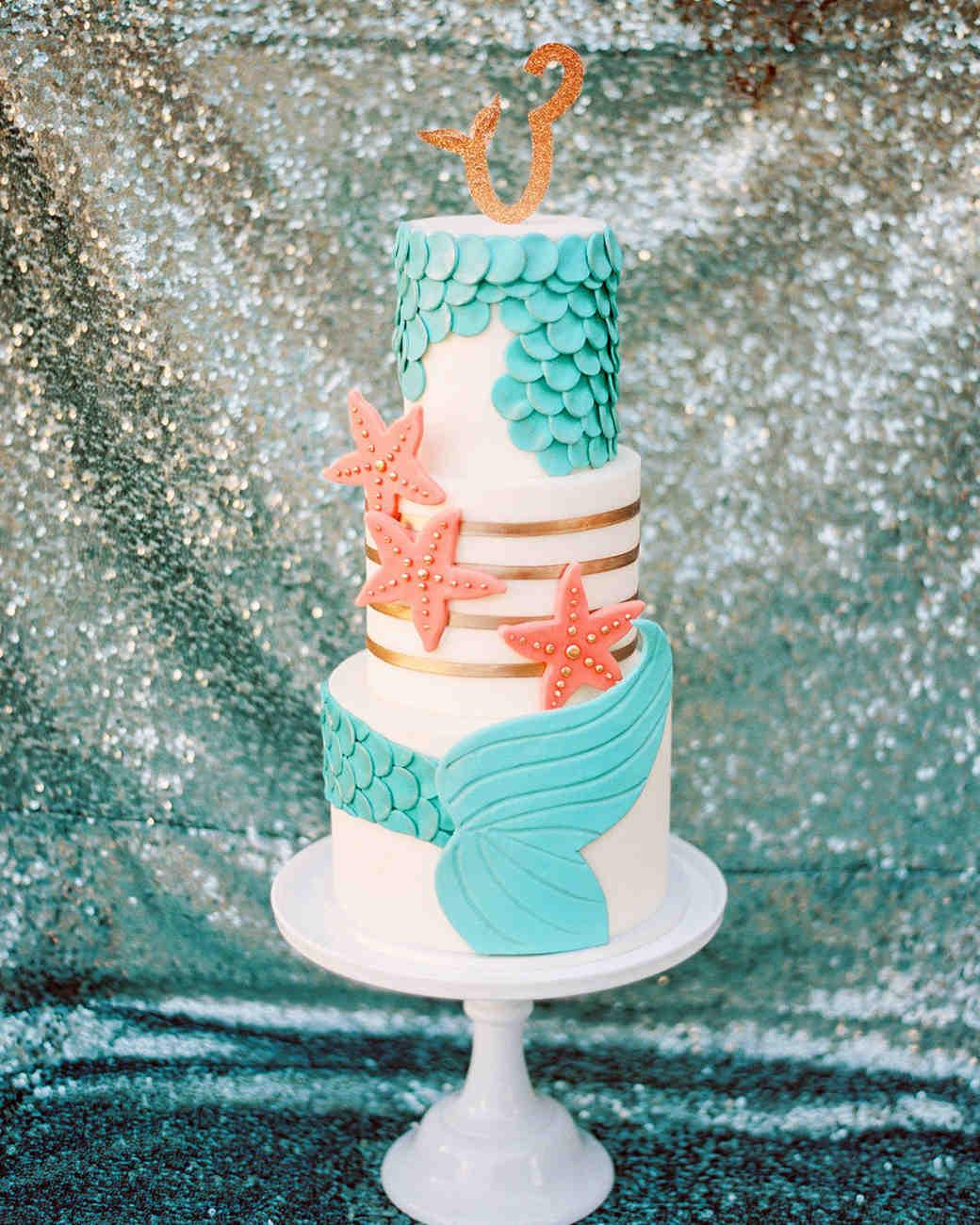 Mermaid-Inspired Wedding Cake