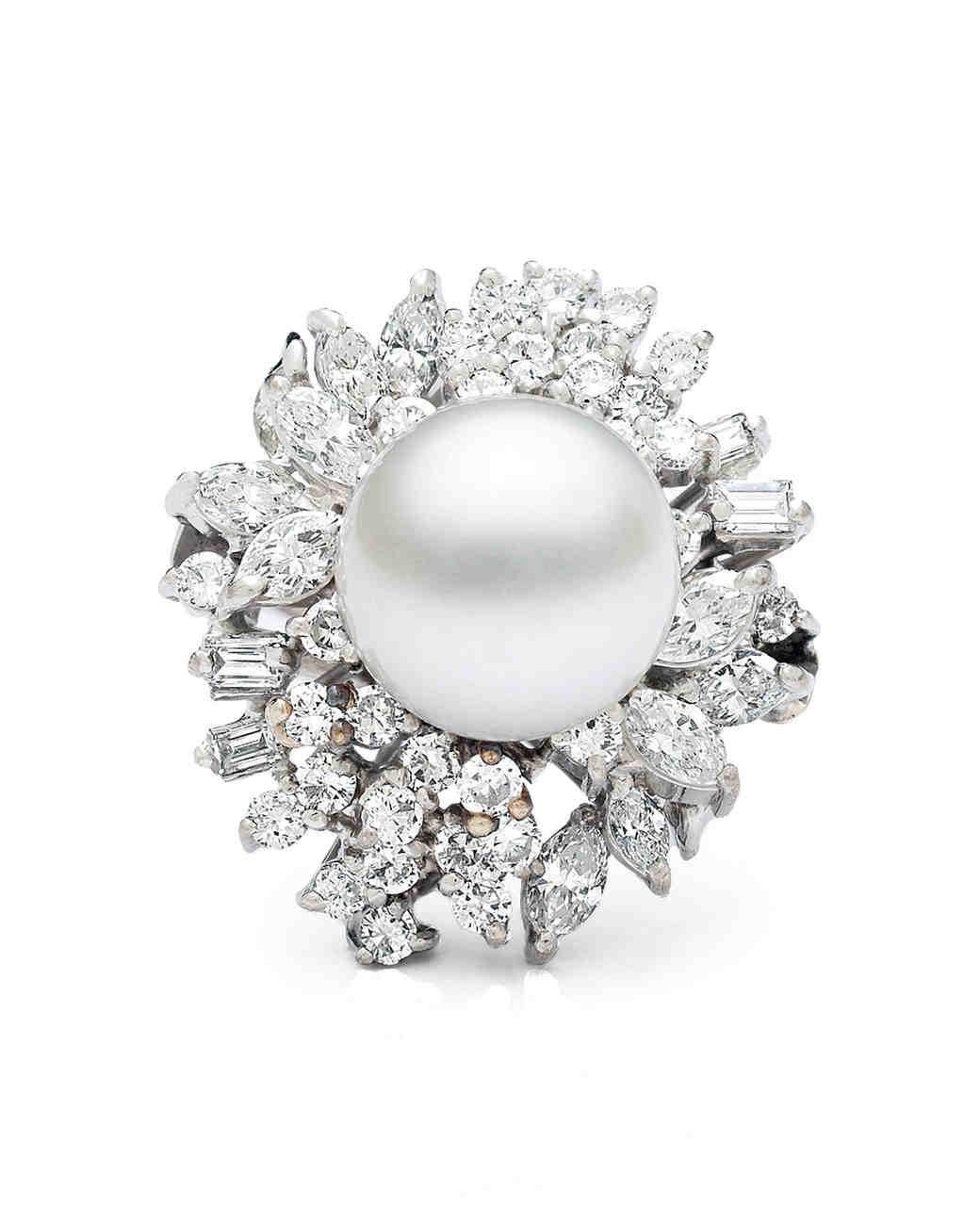 diamond rings jewelry pearl pin south sea ring engagement pinterest