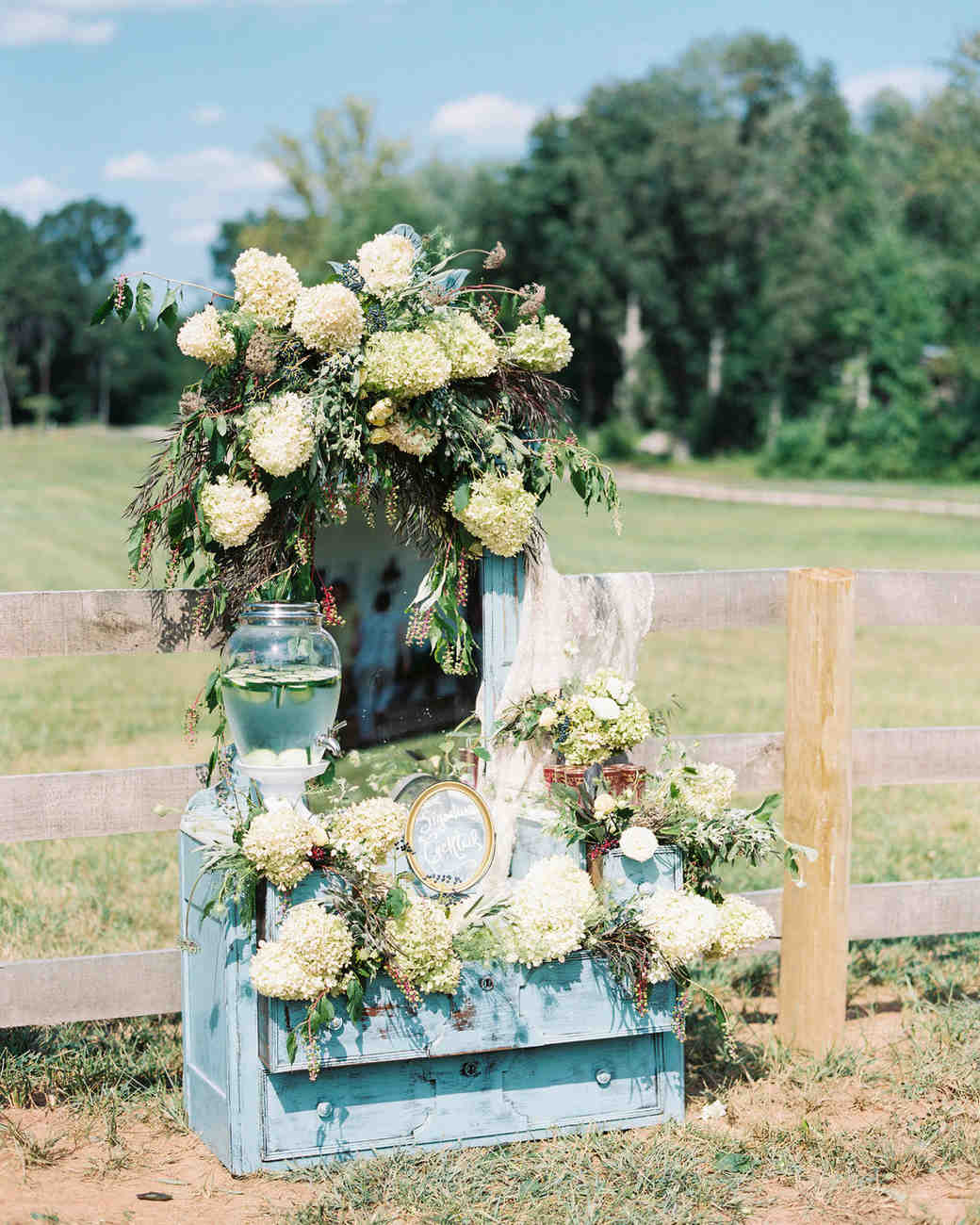 blue wedding idea krista jones