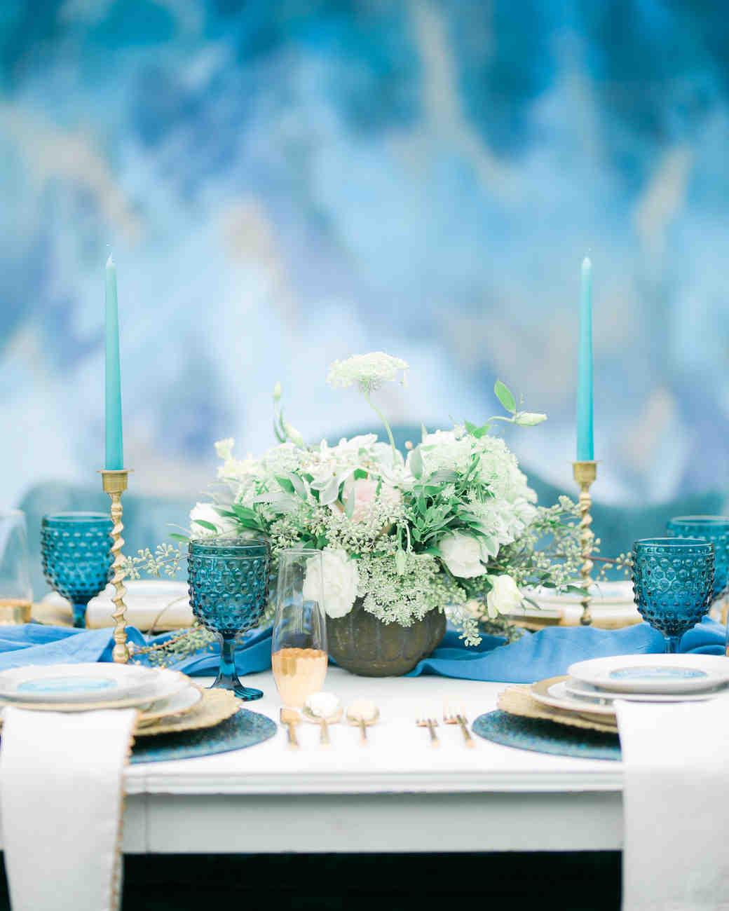 blue wedding ideas erika mills