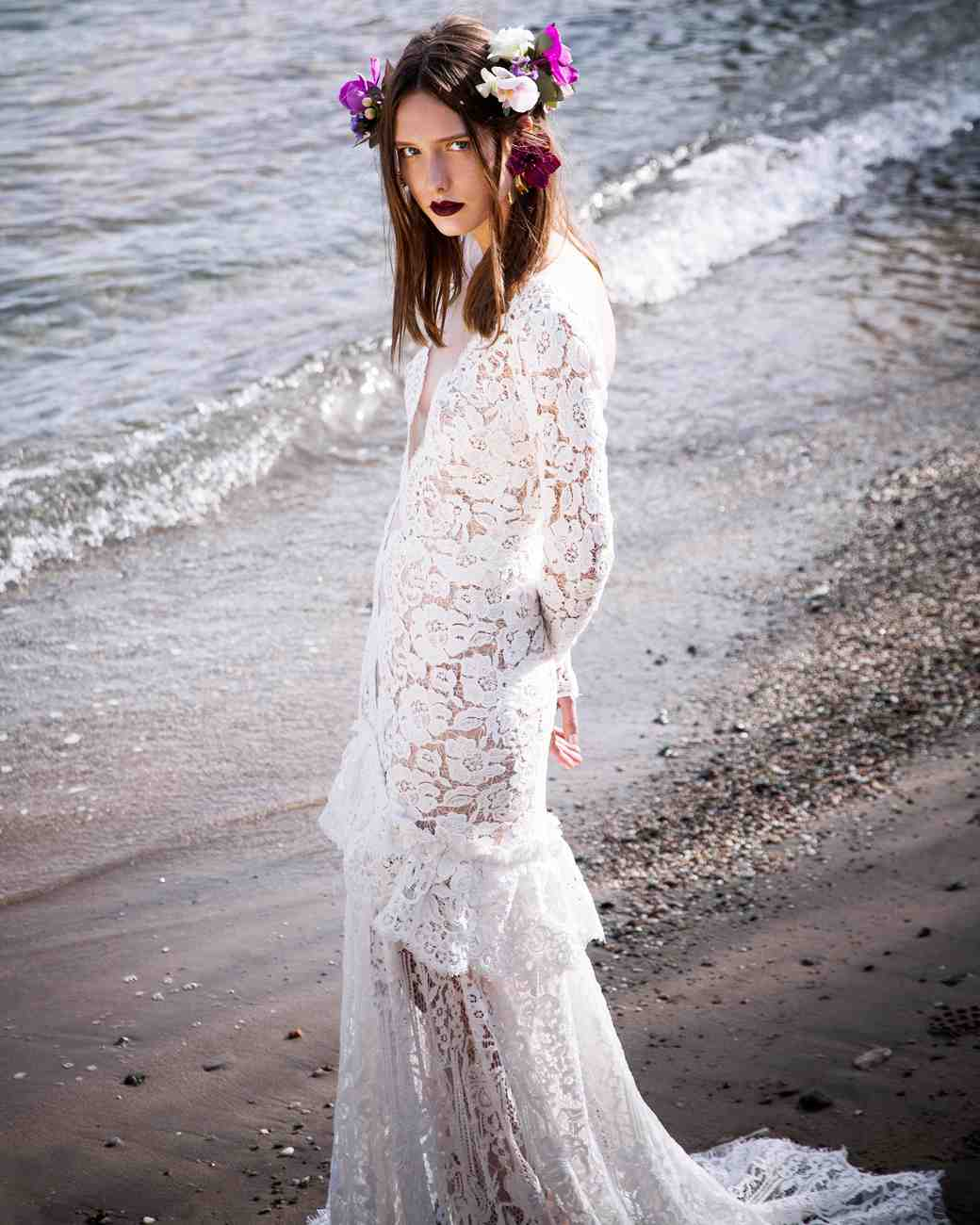 Sexy Christos Costarellos wedding dress