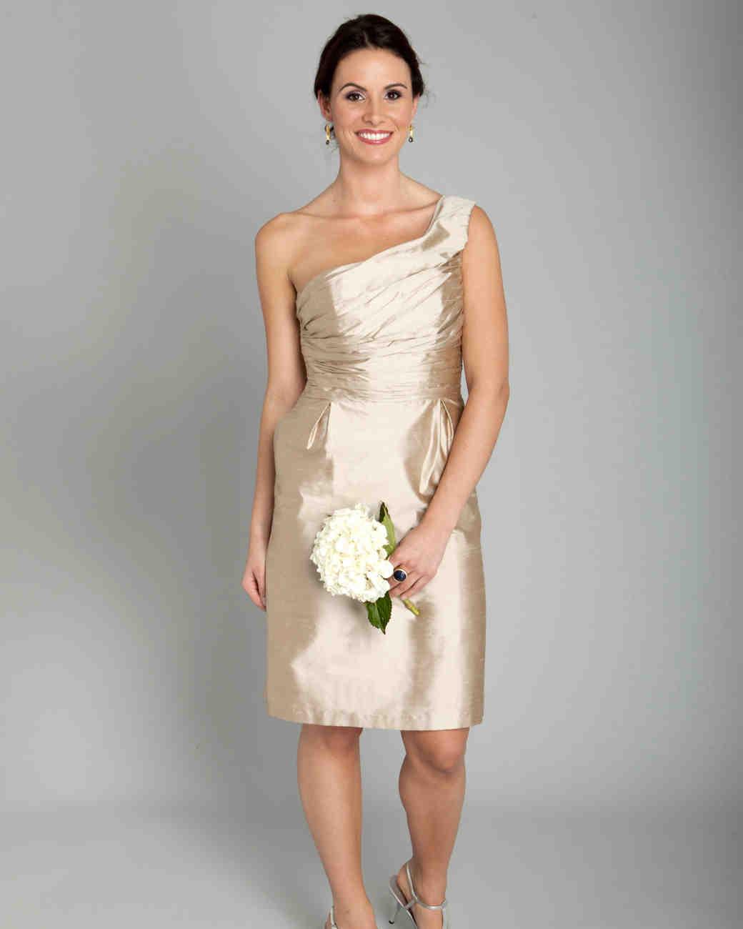 Short Champagne Bridesmaid Dresses