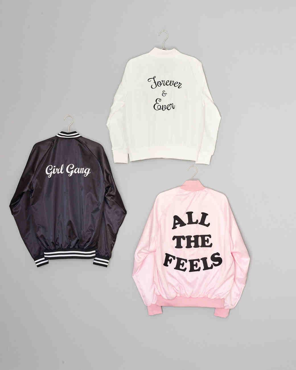 slogan bomber jackets
