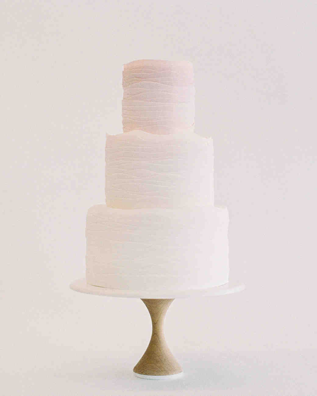 Deckle-Edged Ombre Pink and White Cake