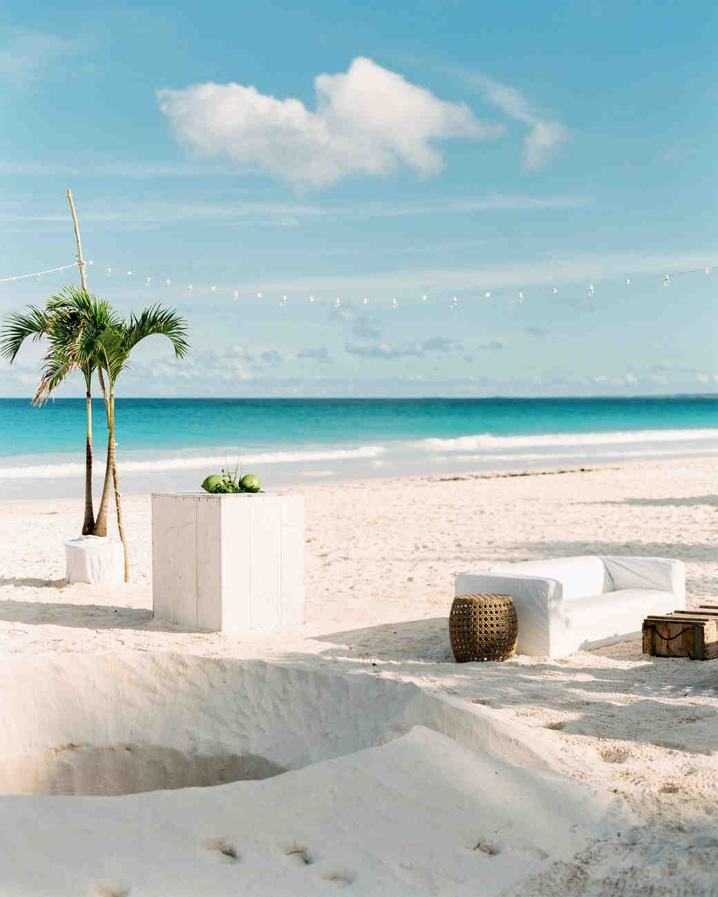 wedding lounge on beach