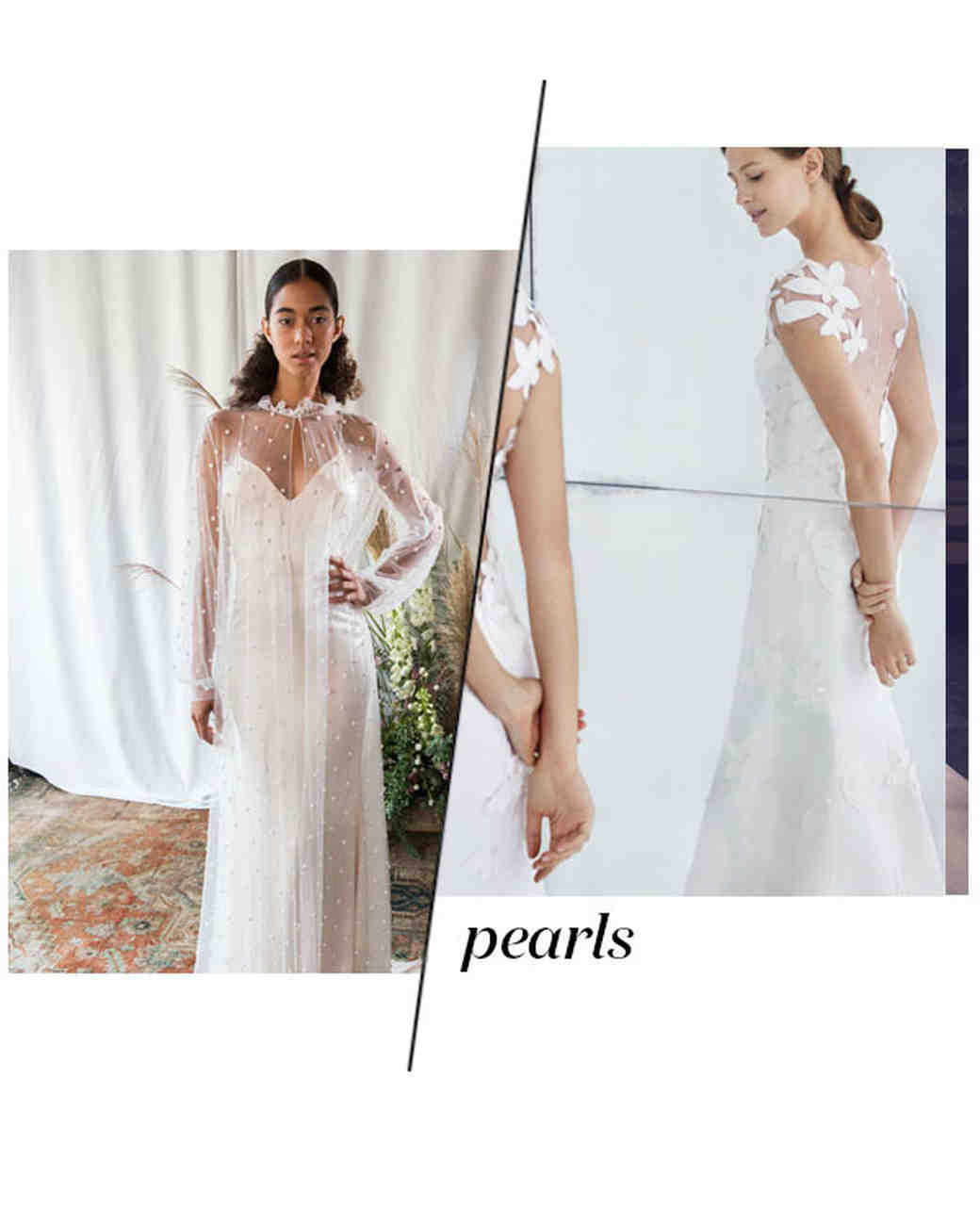 Fall 2018 Wedding Dress Trends, Pearl Details