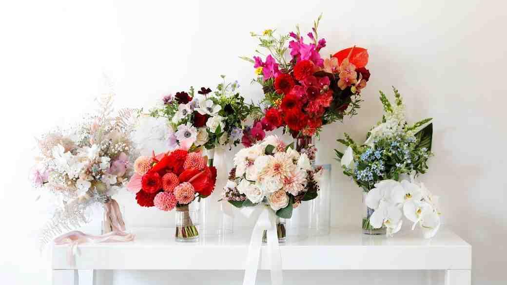 fall 2018 bridal fashion week bouquets