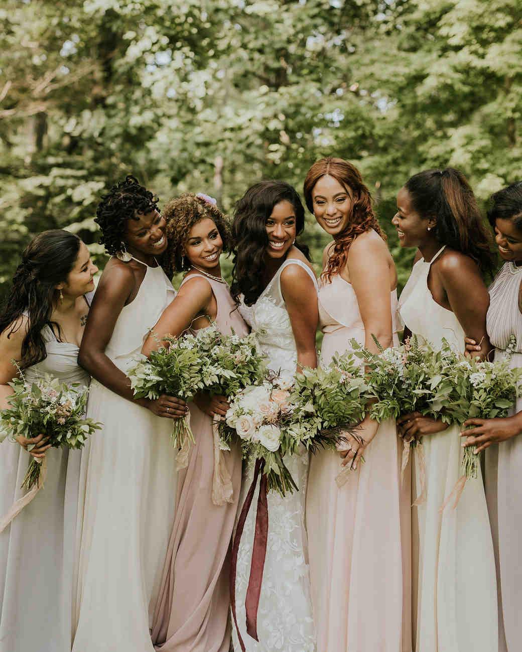 ferbie rob boho wedding bridesmaids