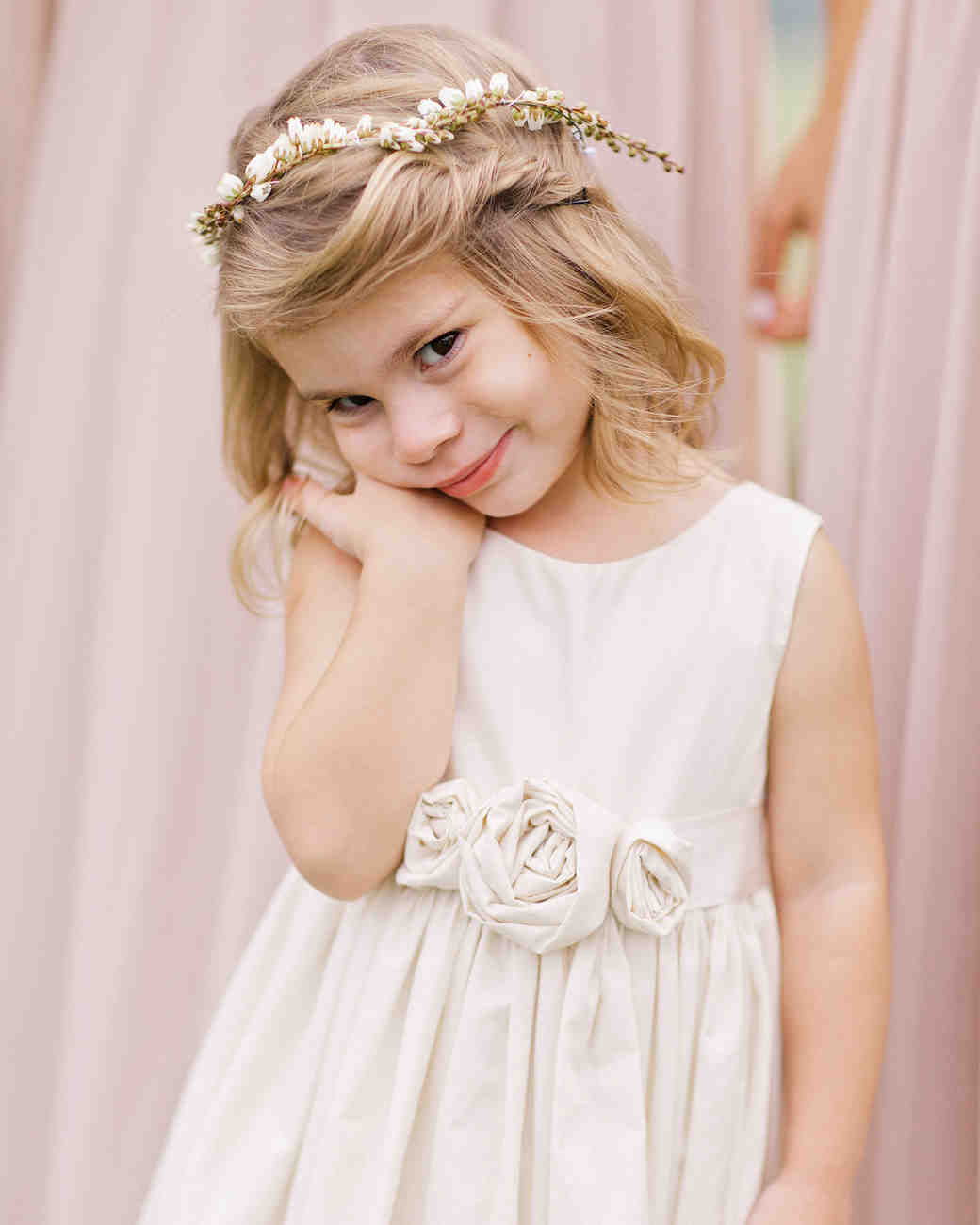 Flower Girl Twist Hairstyle with Babys Breath