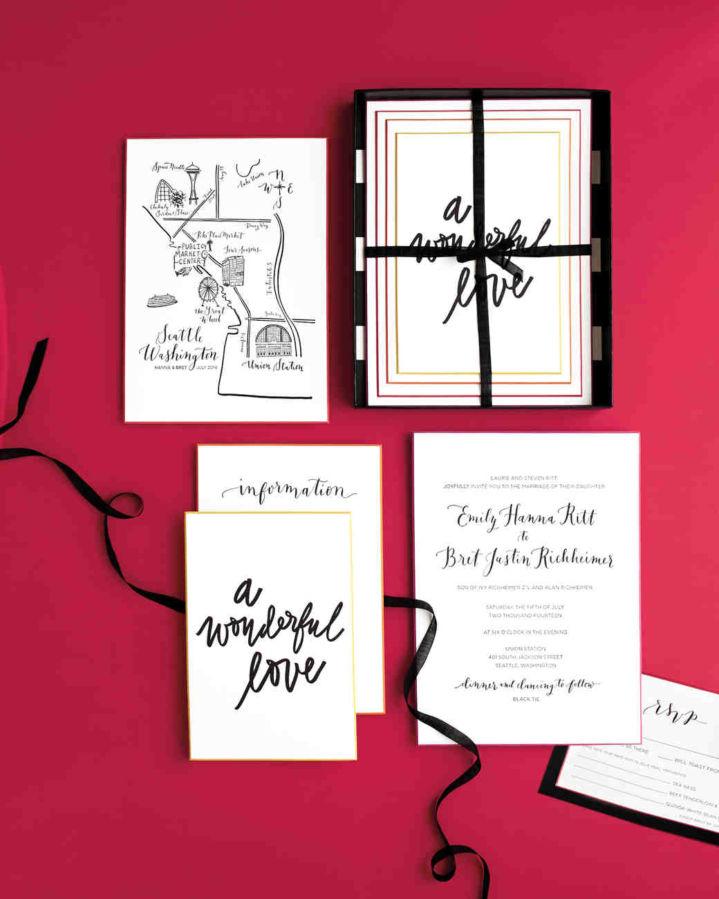 Your Wedding Stationery Etiquette Questions Answered | Martha ...