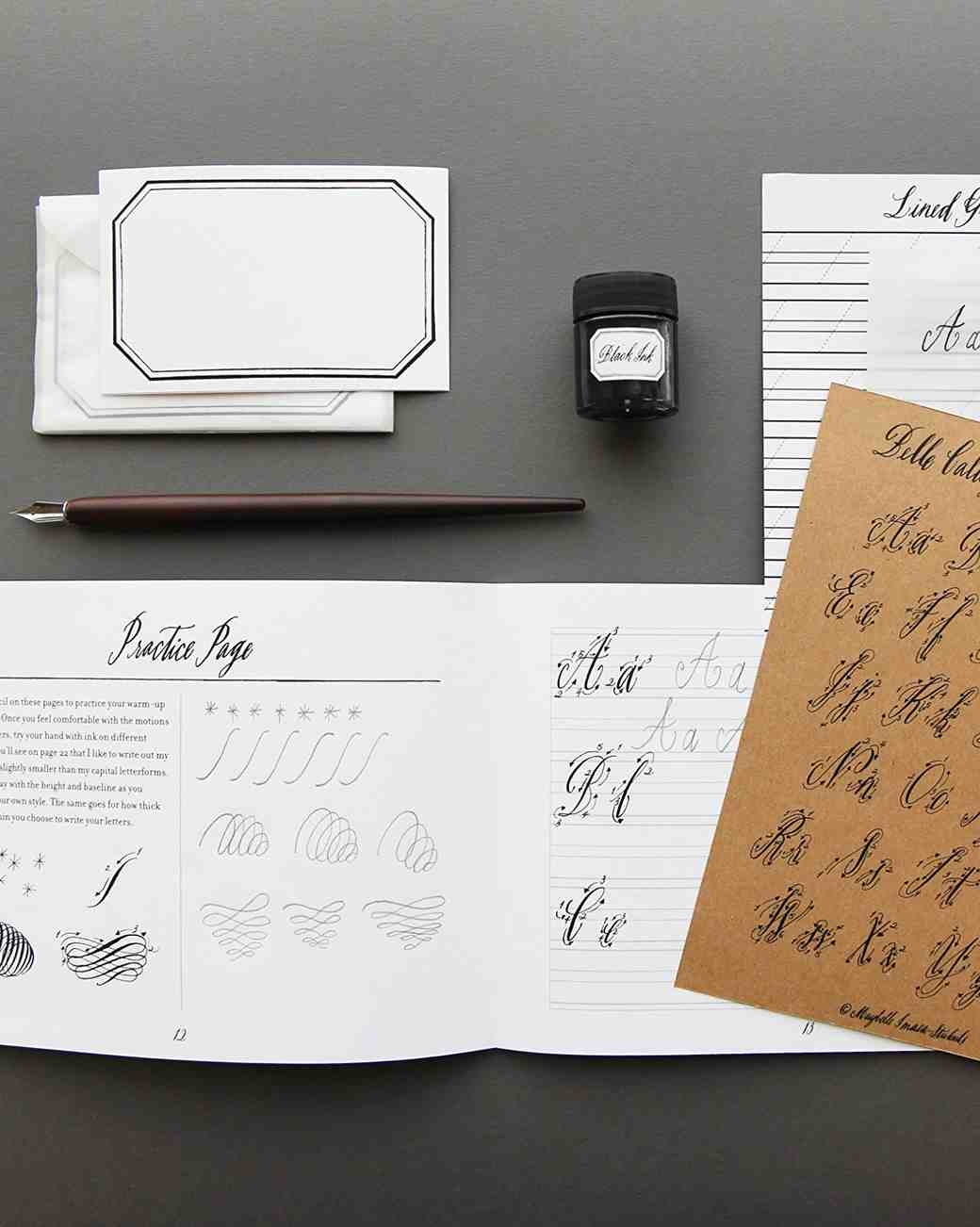 Hostess gift idea Belle Calligraphy Kit