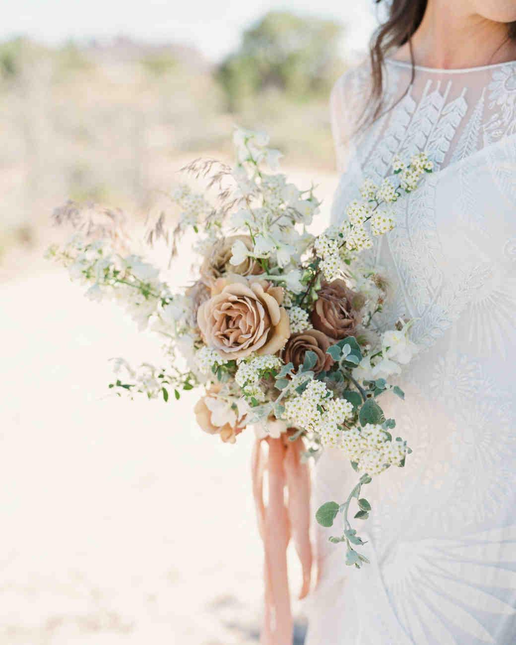 jeanette david wedding desert bouquet bride