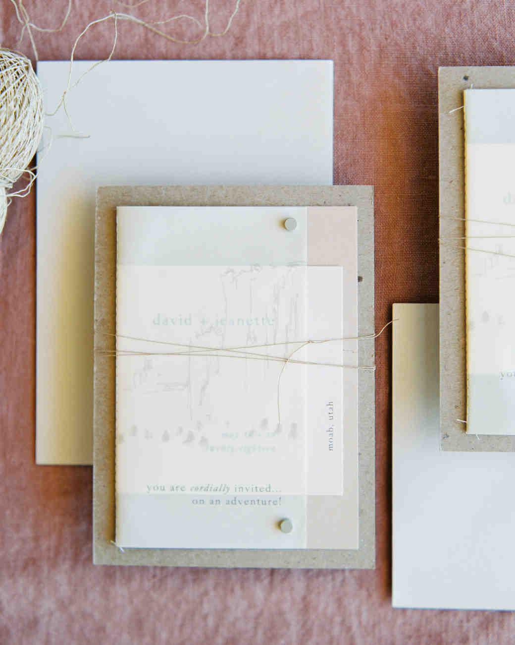 jeanette david wedding invites stationary suite
