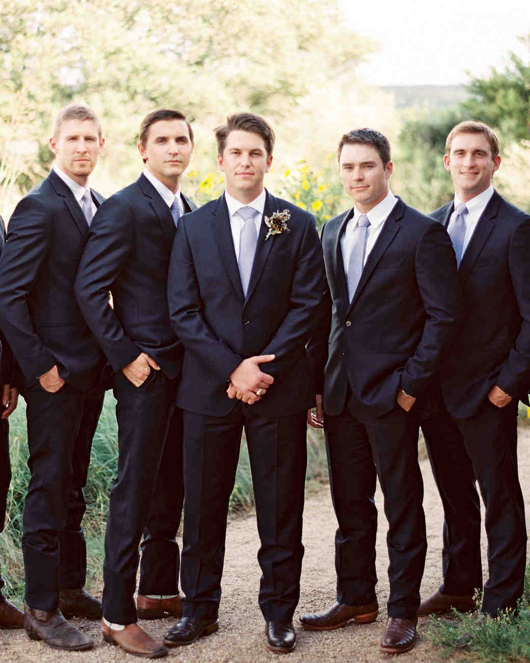 kelsey jacob wedding groomsmen black tuxes