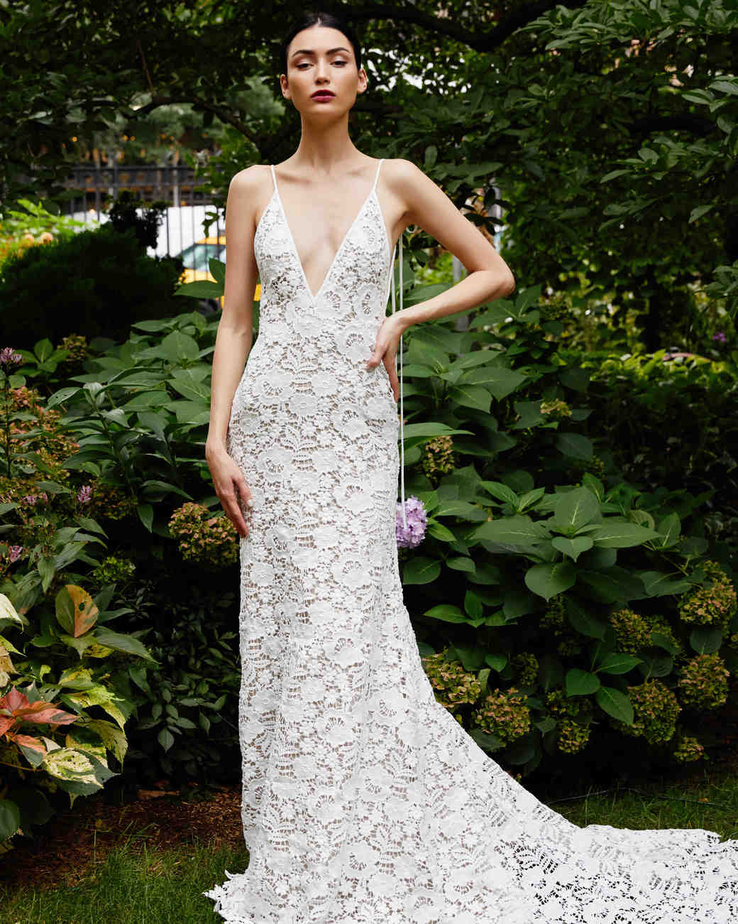 Lela Rose sheath lace wedding dress fall 2019