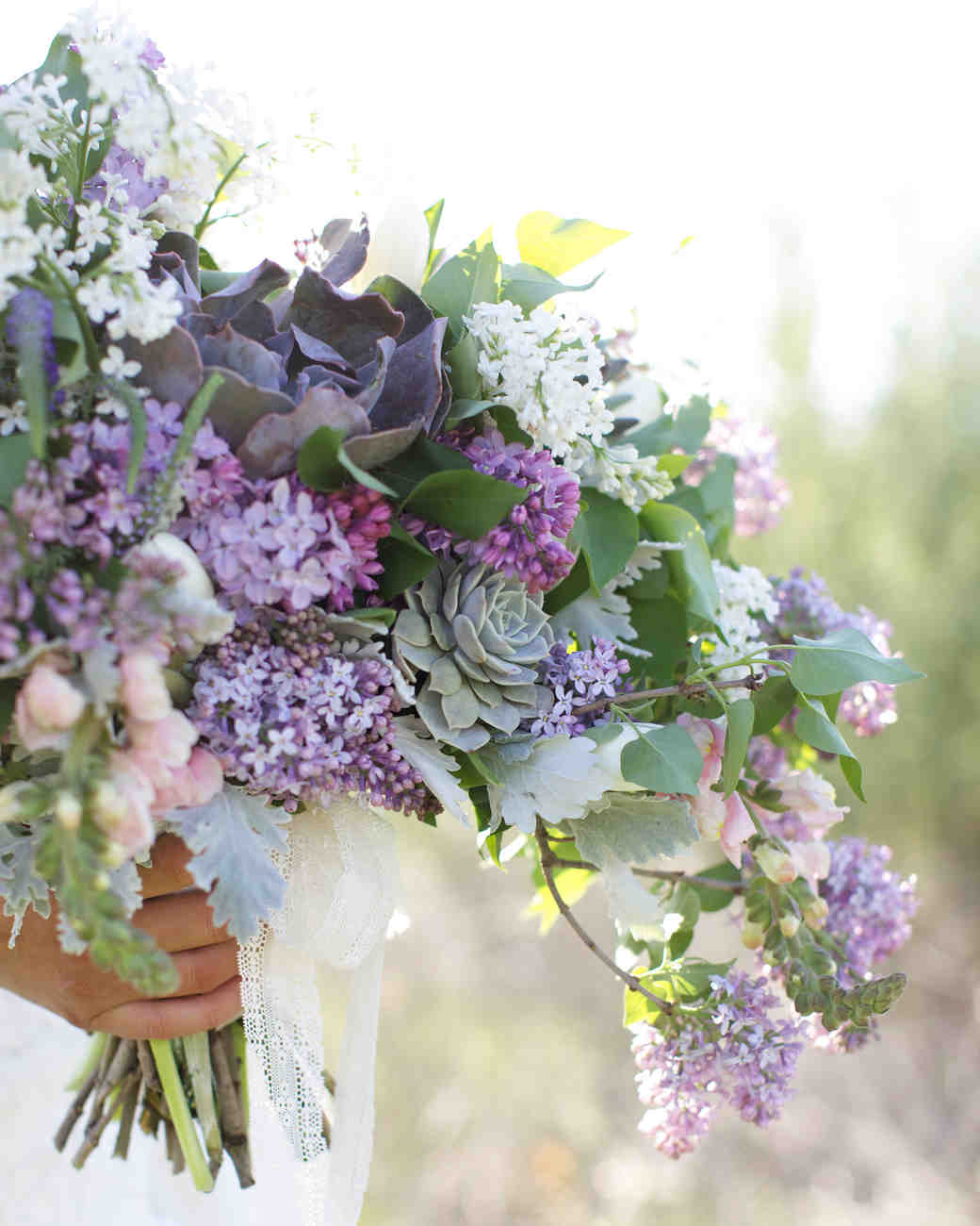Fresh & Fragrant Lilac Wedding Bouquets | Martha Stewart Weddings