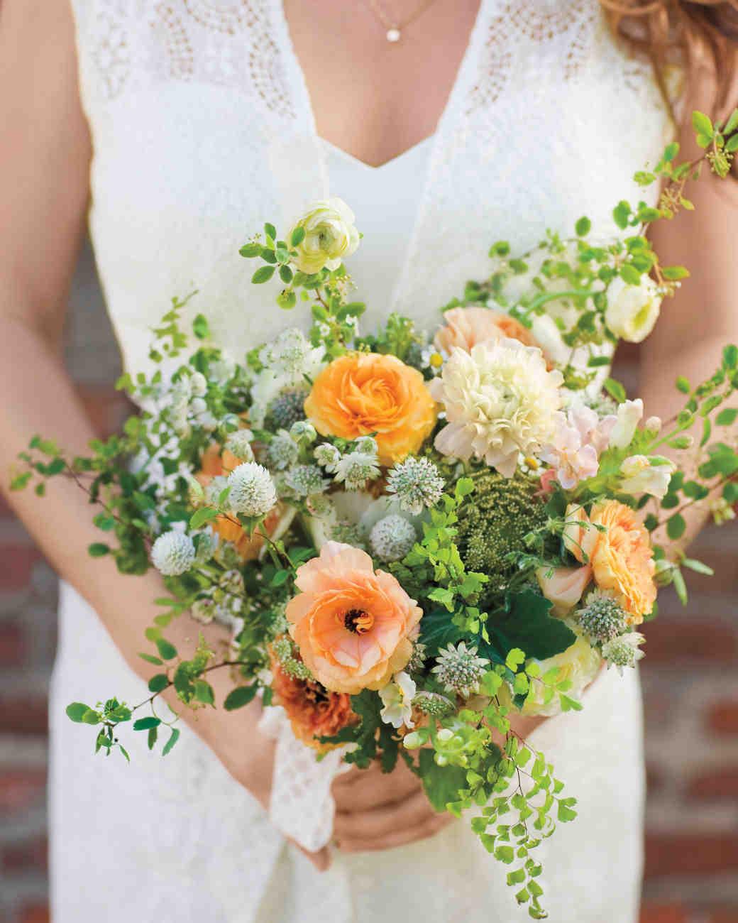 Orange and Green Wedding Bouquet