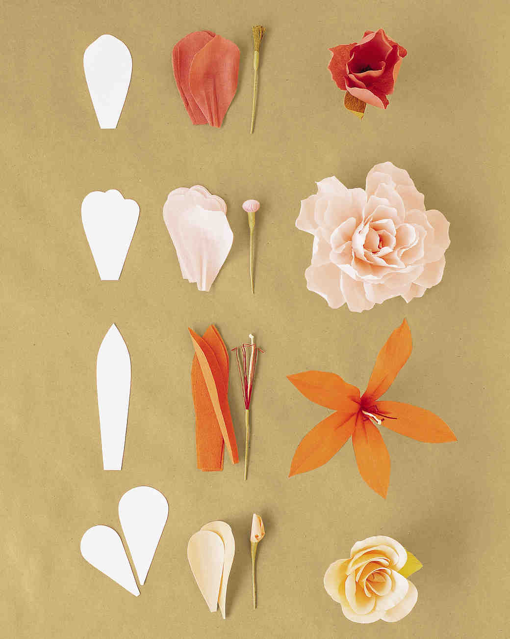 How to make crepe paper flowers martha stewart weddings single petal method mightylinksfo