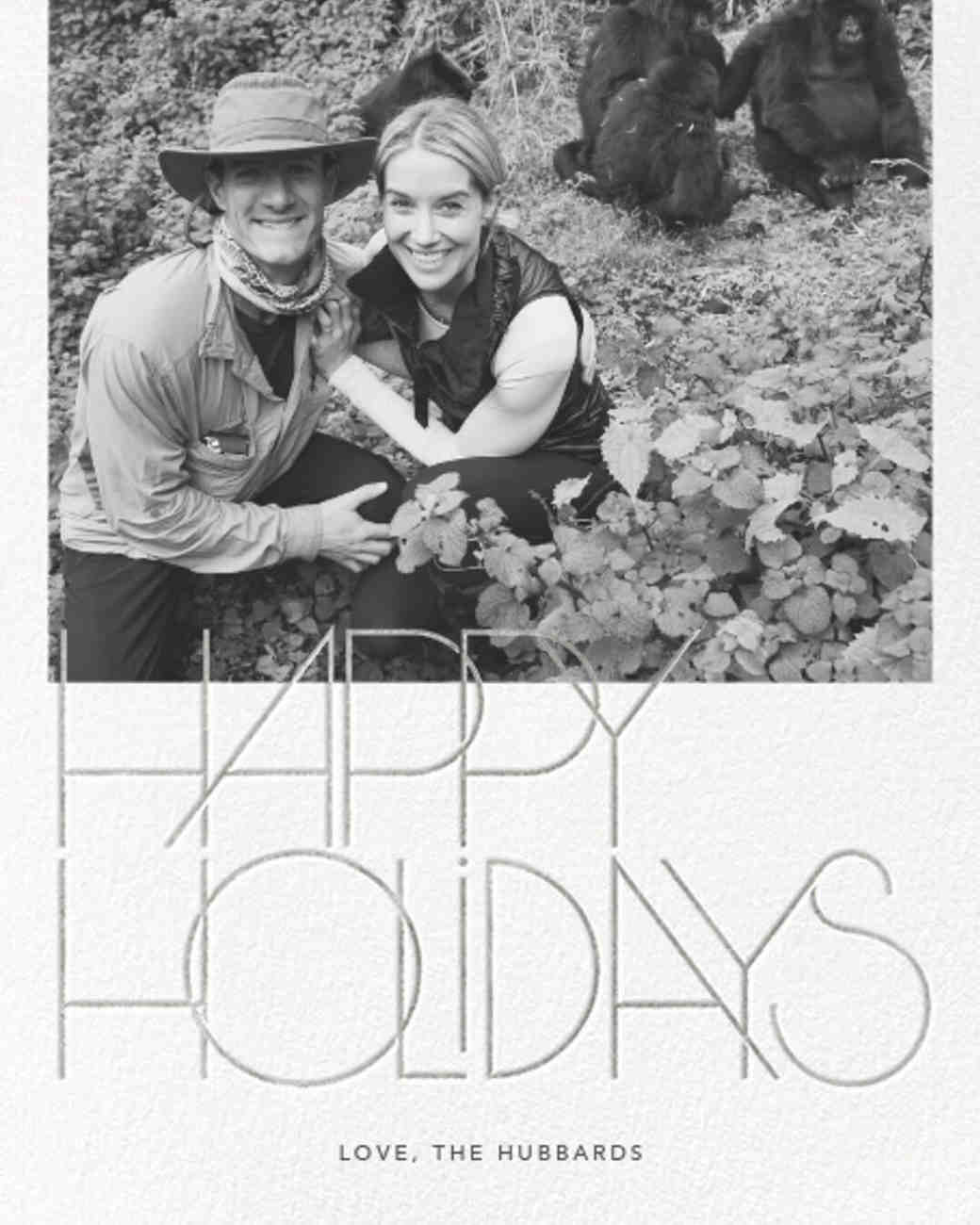 newlywed holiday card hubbards
