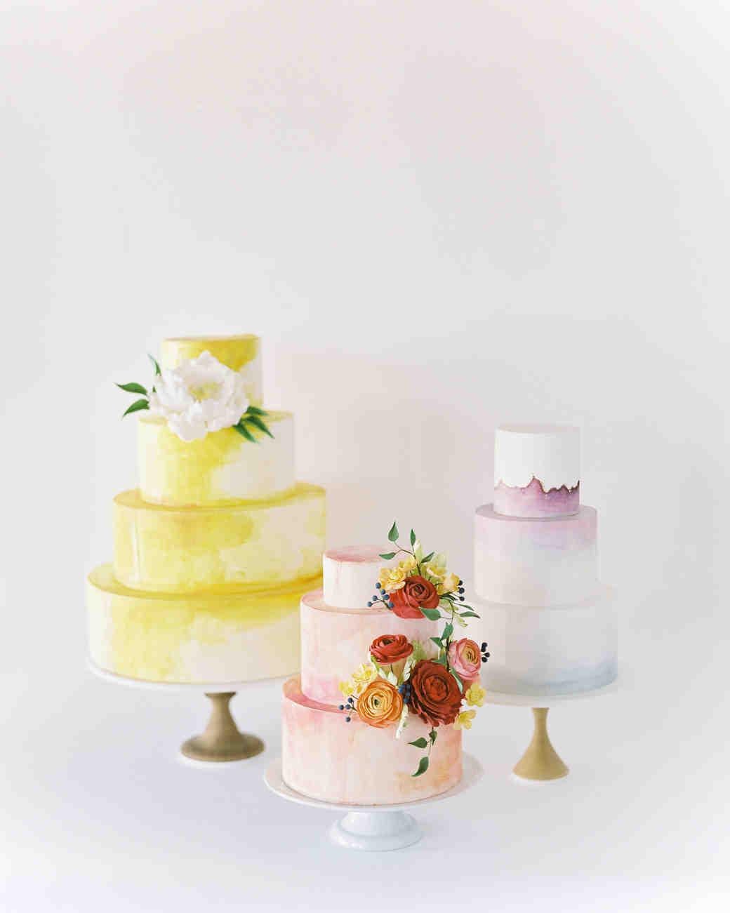 Fall Wedding Cake Trends, Trio Shot