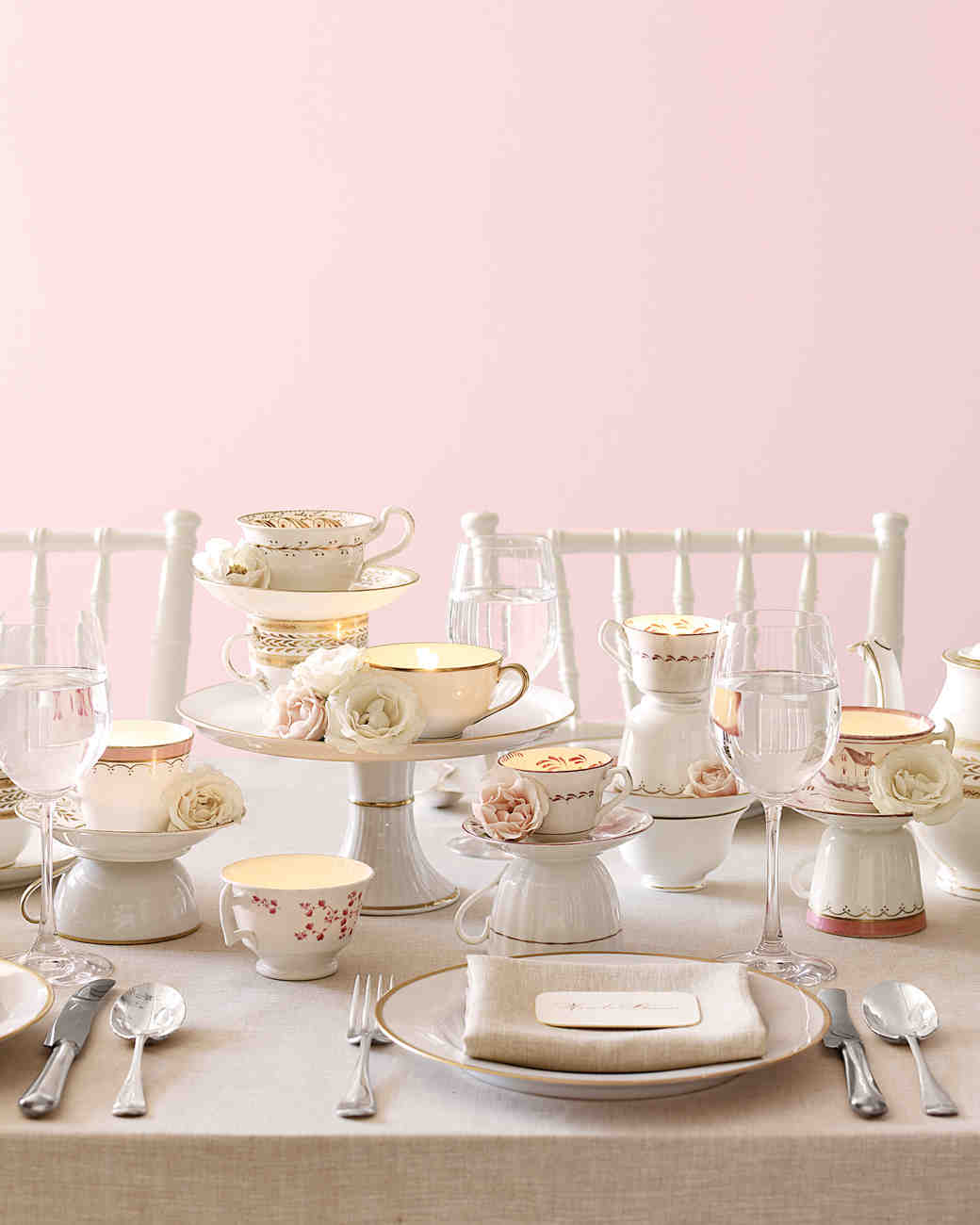 Tea Set Centerpiece