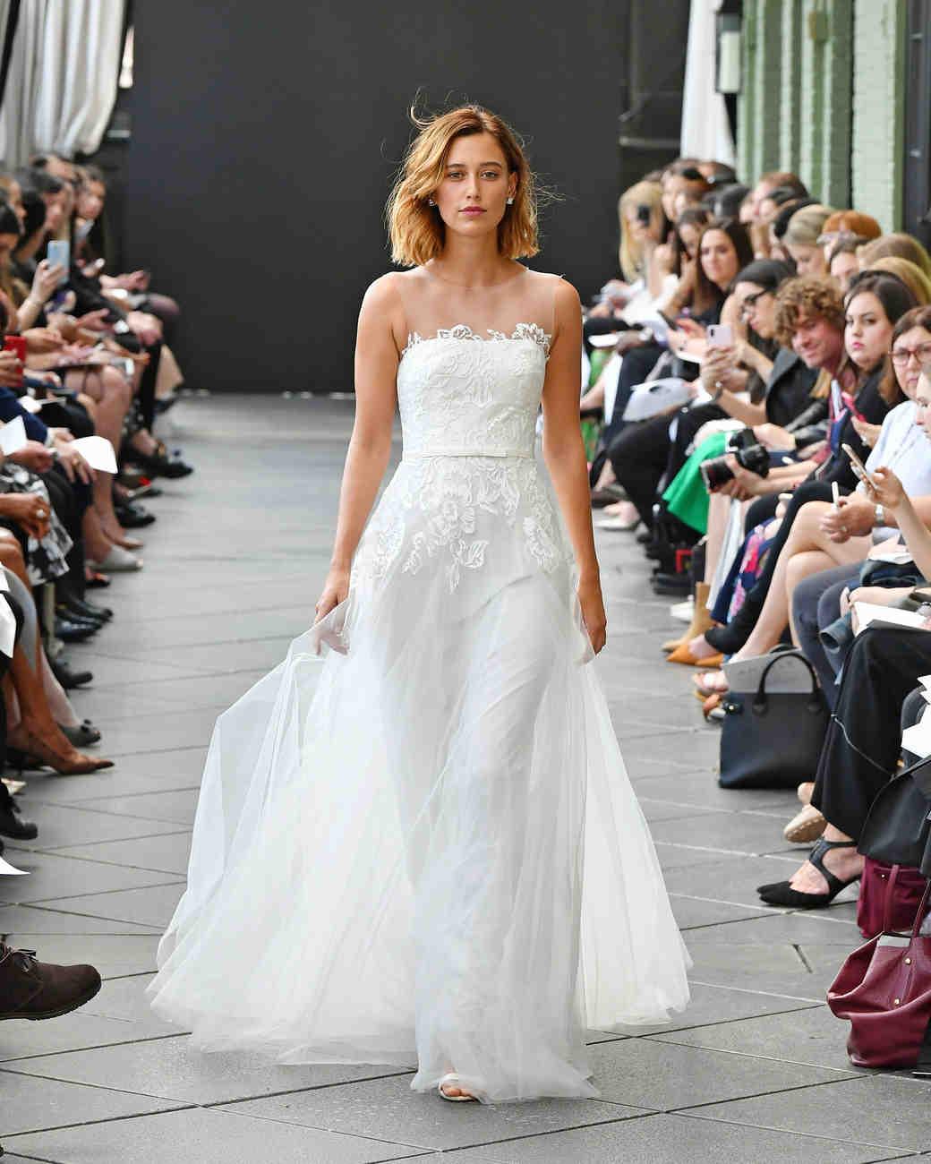 nouvelle amsale wedding dress spring 2019 illusion a-line