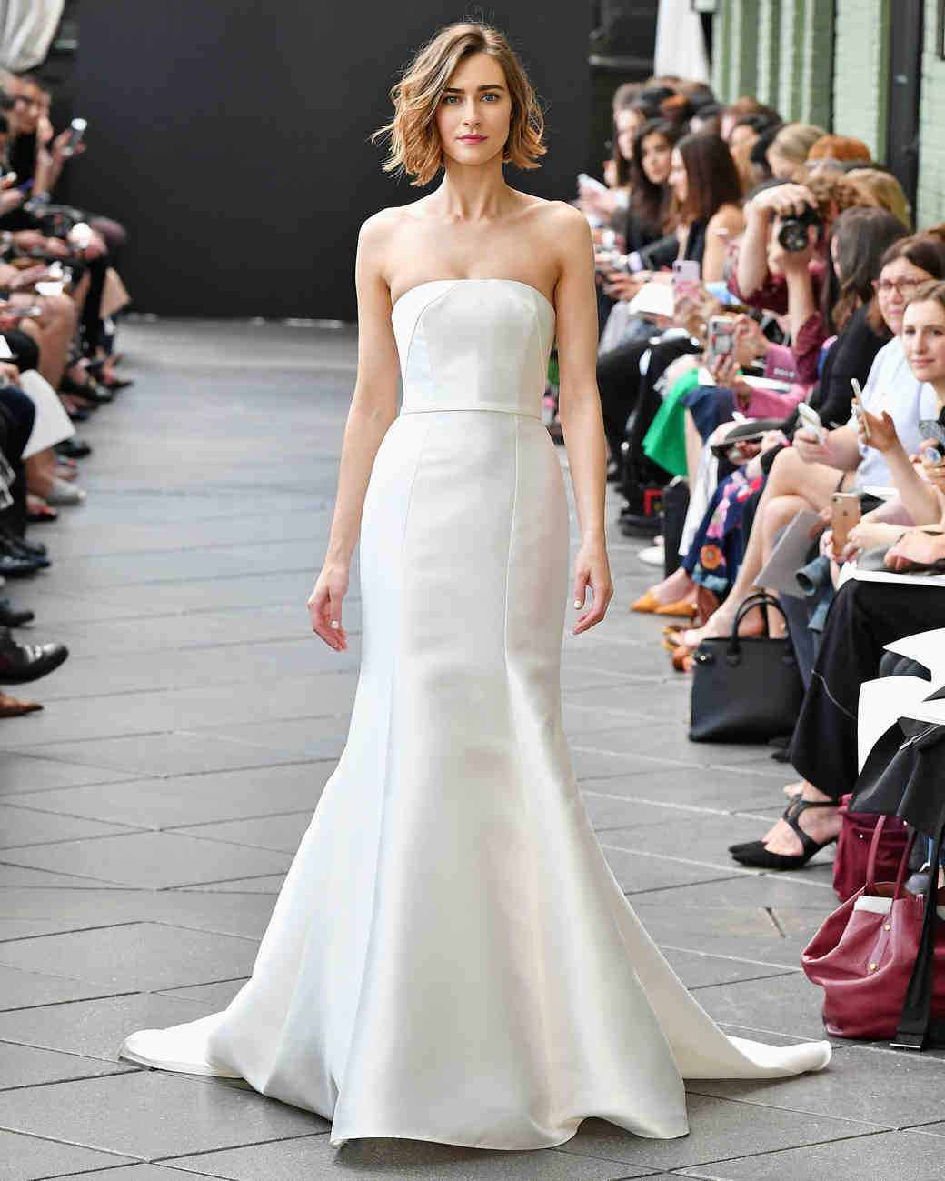 nouvelle amsale wedding dress spring 2019 strapless mermaid