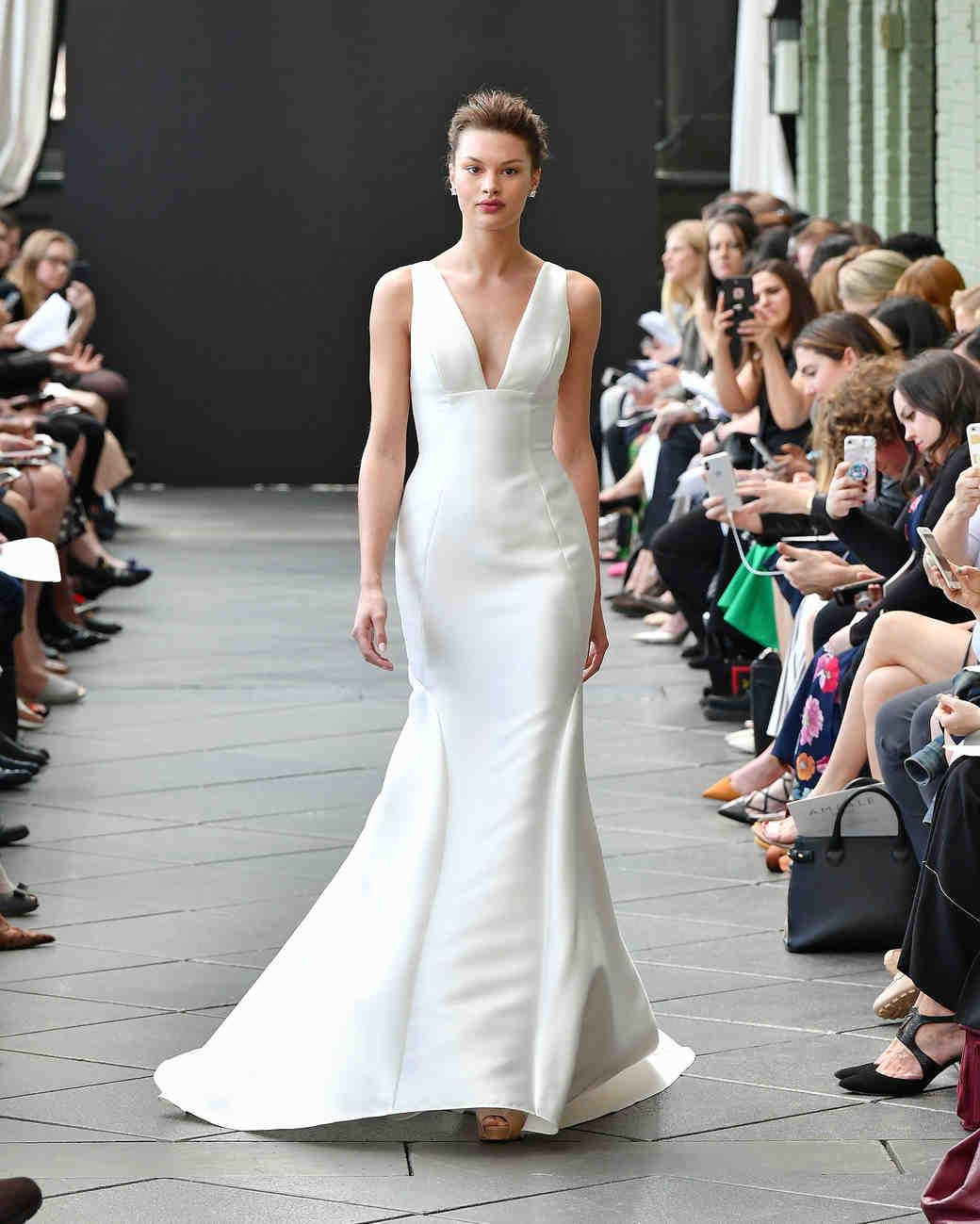 nouvelle amsale wedding dress spring 2019 v-neck mermaid