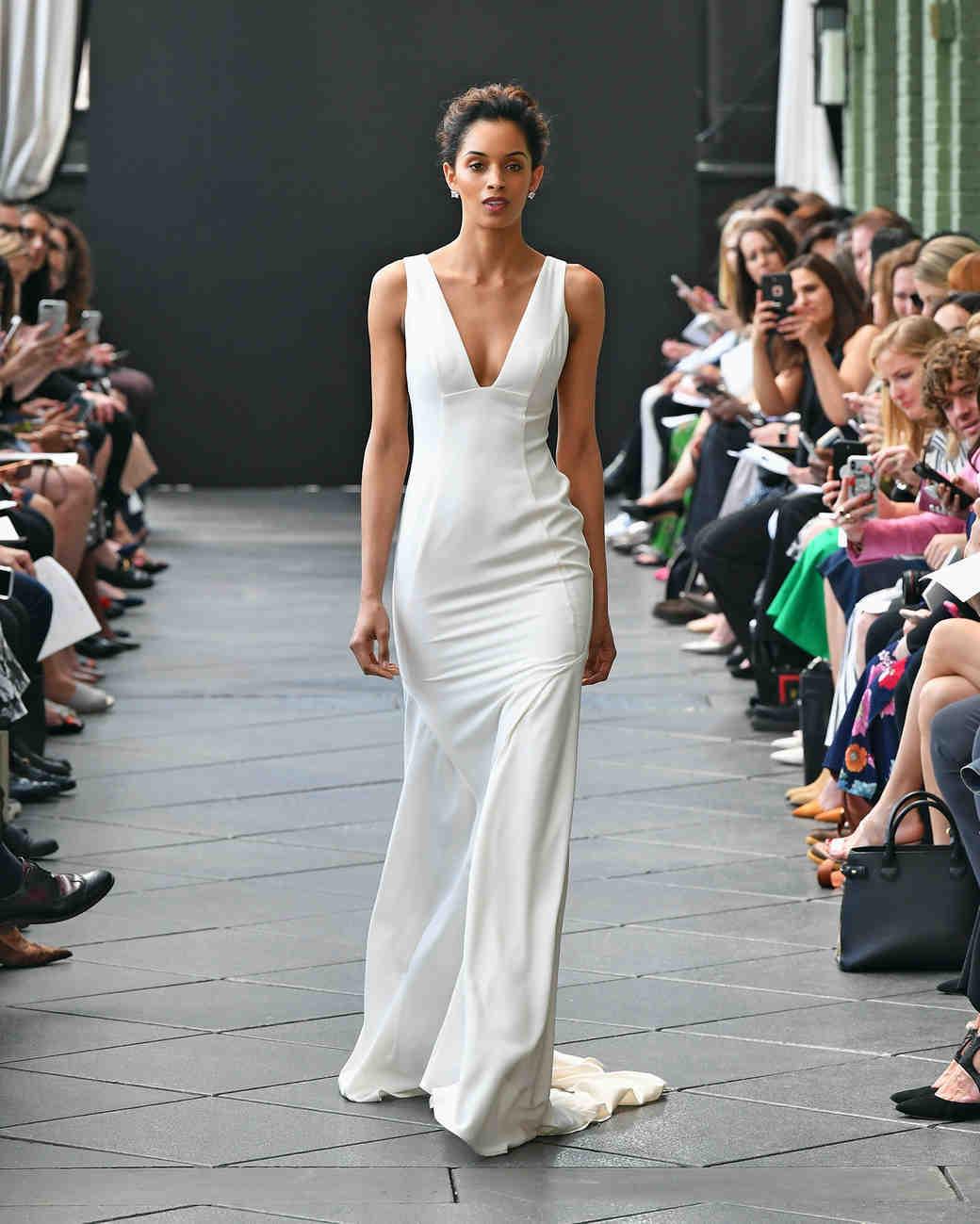 nouvelle amsale wedding dress spring 2019 v-neck sheath