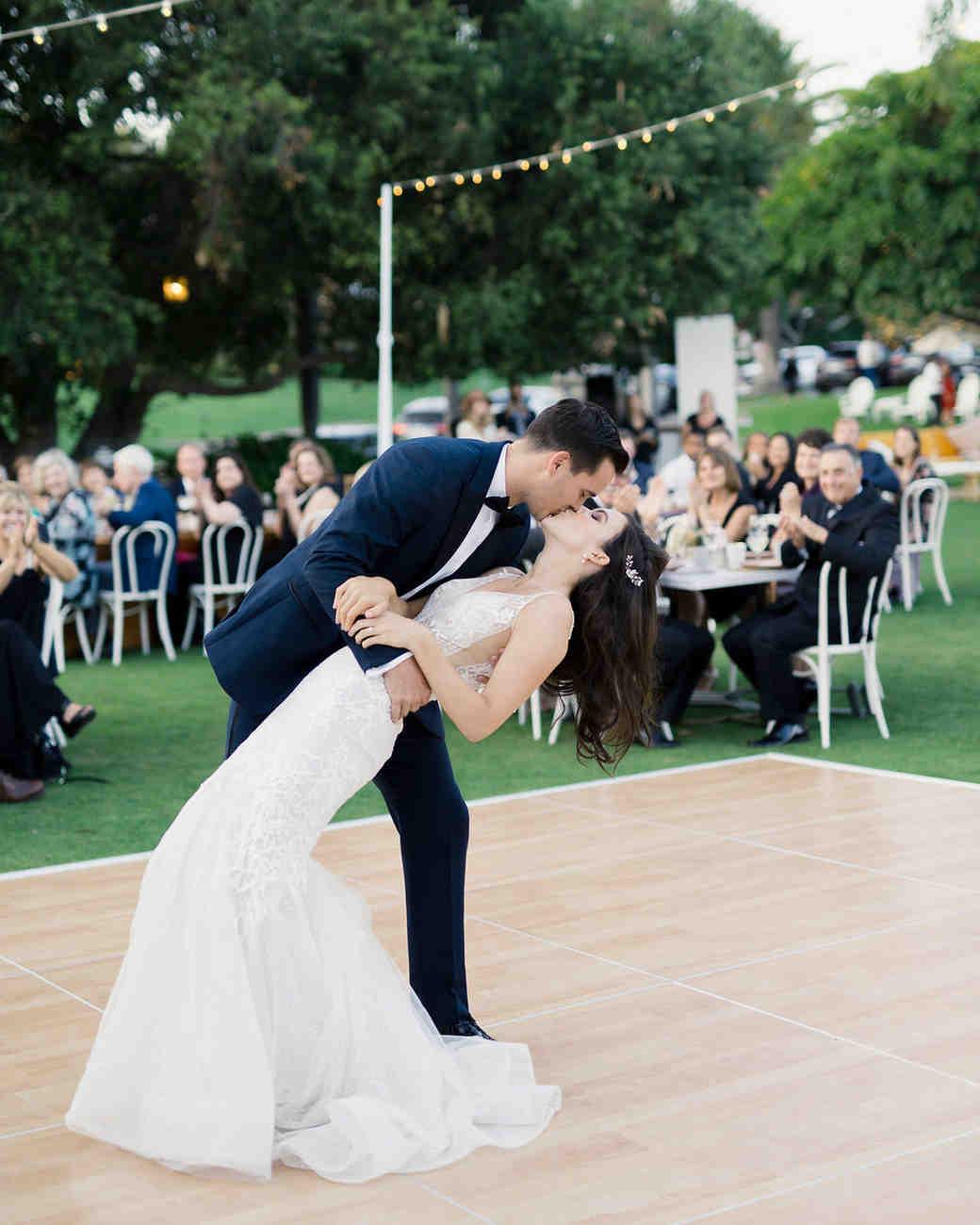 paige zack wedding first dance dip