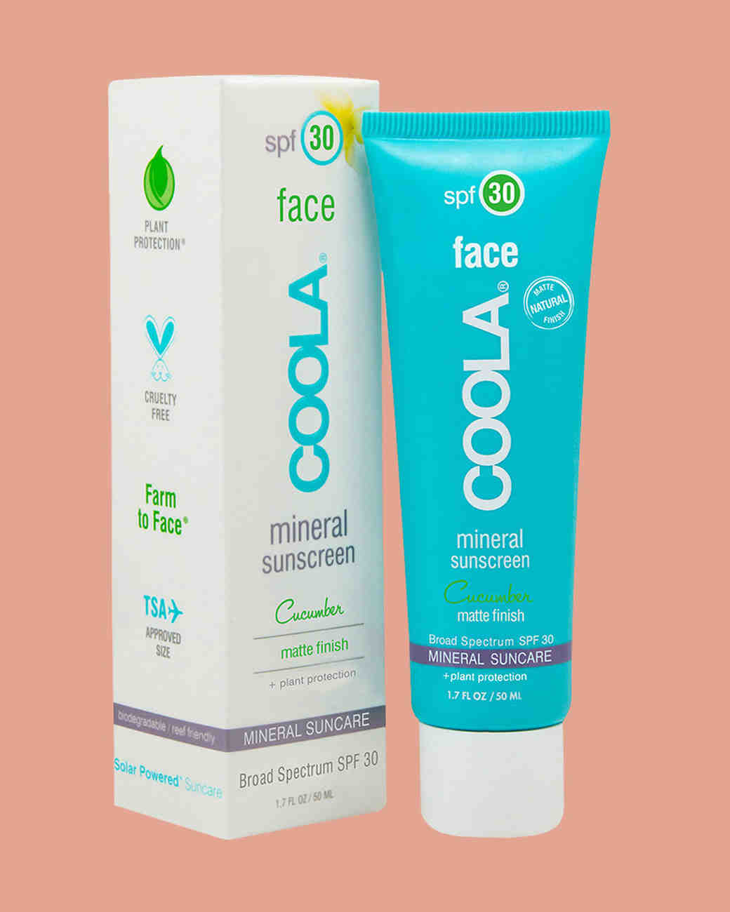 coola mineral sunscreen box and bottle