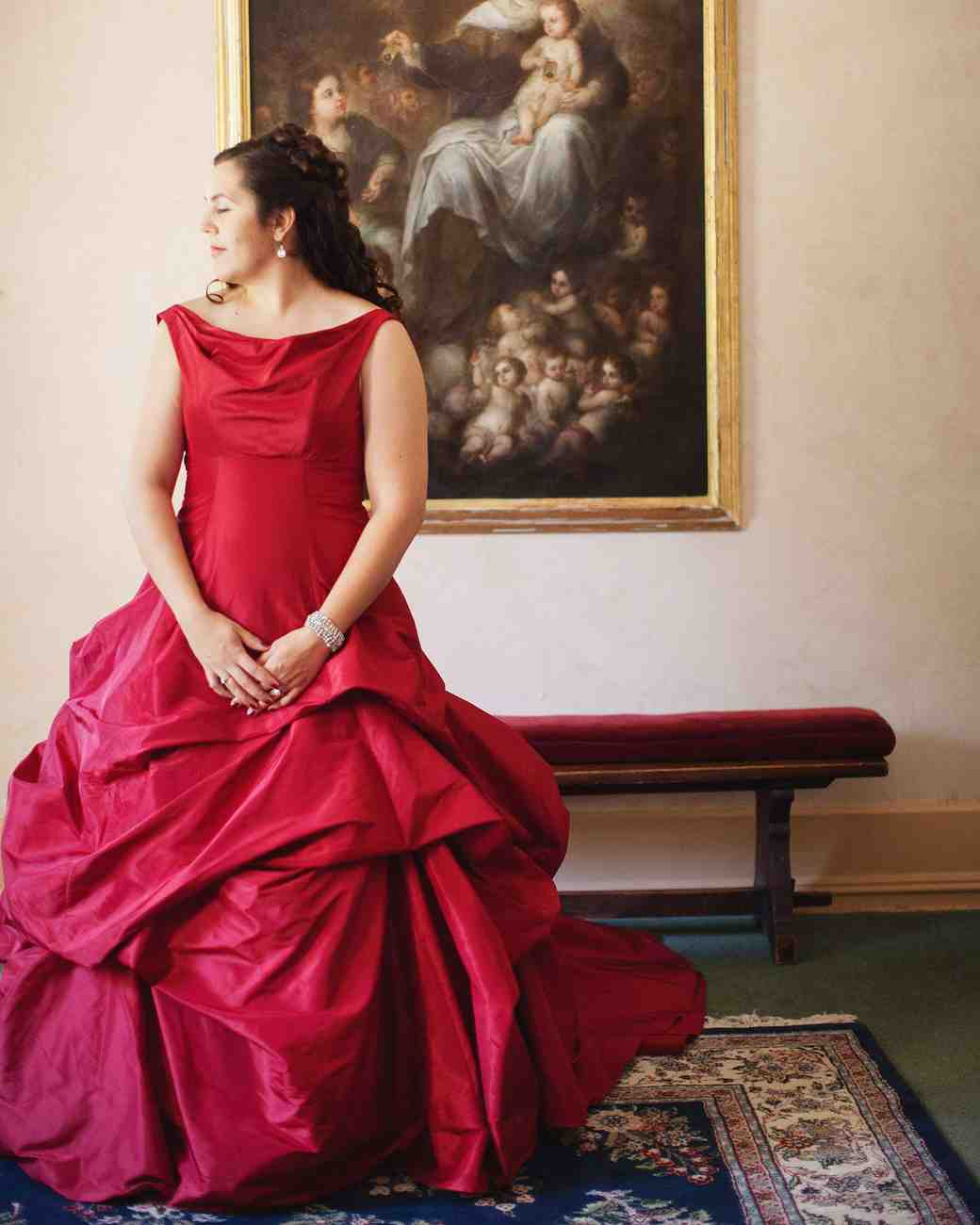 7 red wedding dresses thatll leave you re thinking white martha dress junglespirit Images