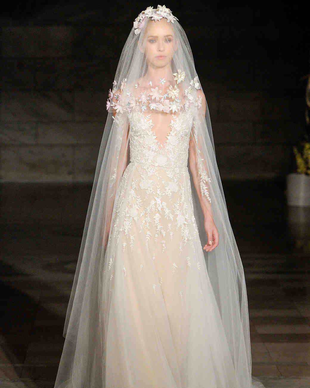 reem acra fall 2019 sheath v-neck wedding dress
