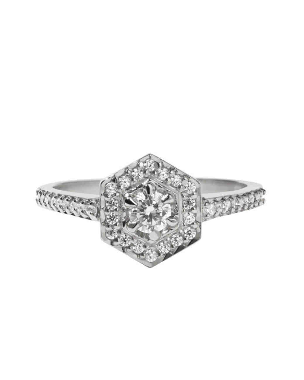 Meadowlark Jewellery Mini Hex Ring