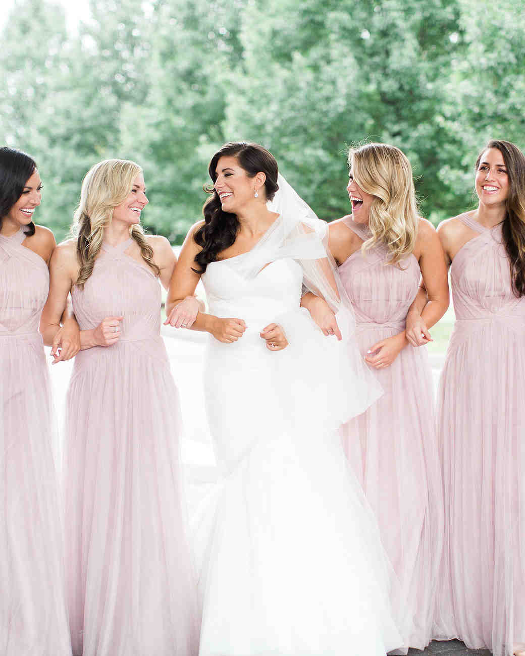 Quartz colors bridesmaid dress